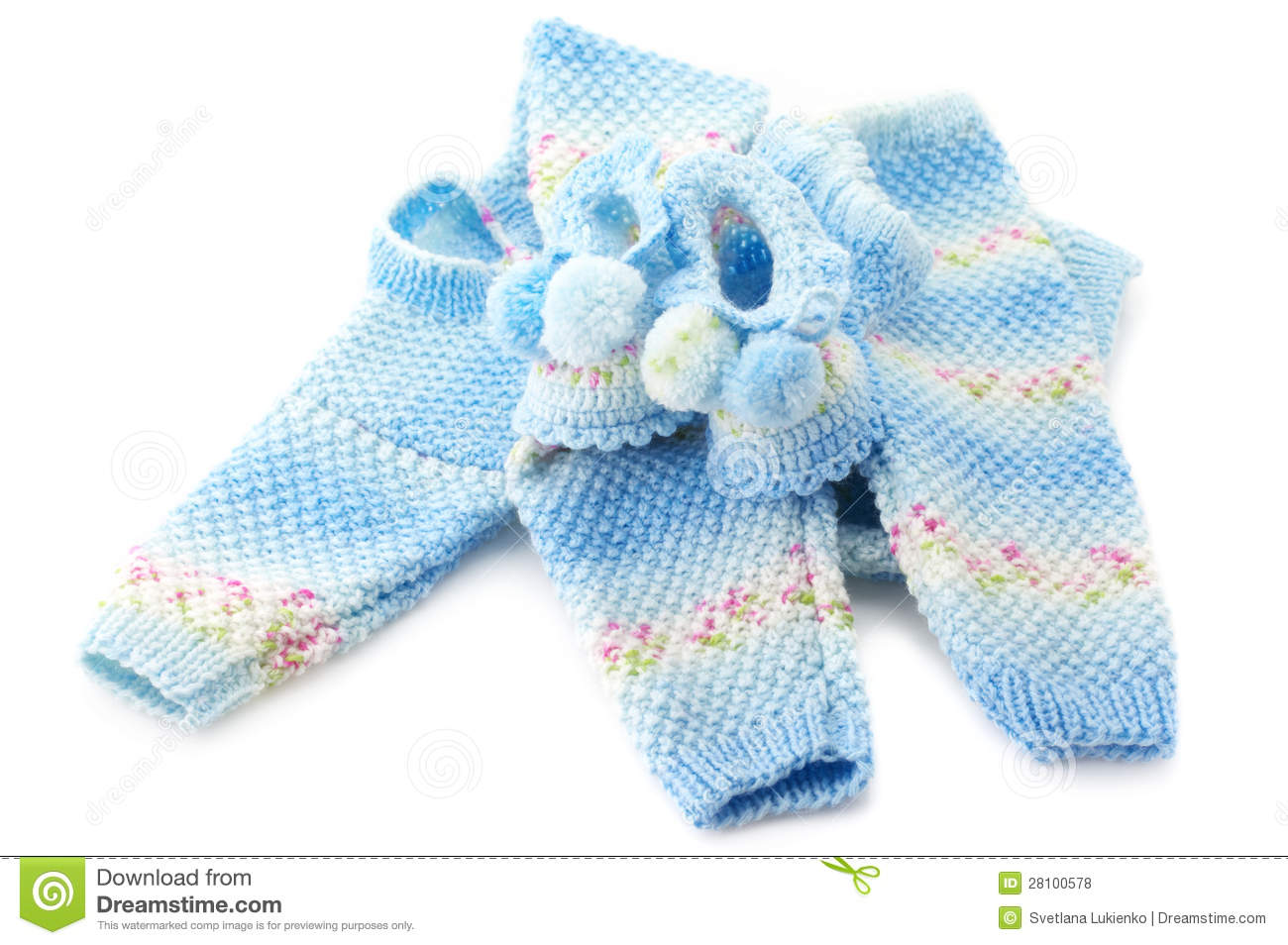 Baby s knitted clothes stock photo Image of cute melange