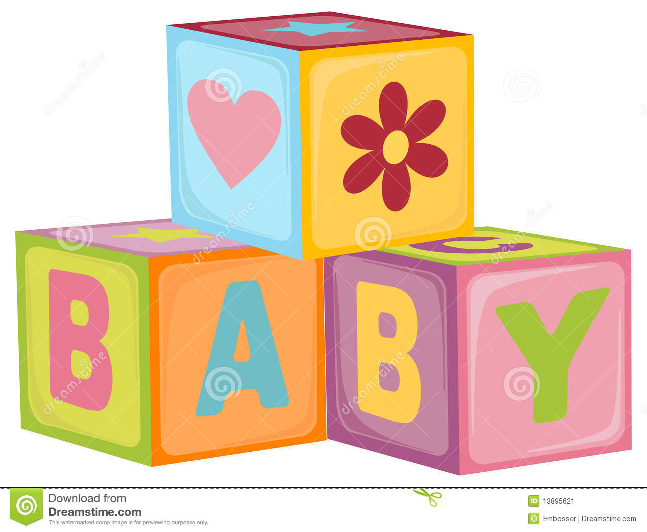 Baby S Letter Cubes Stock Image Image 13895621