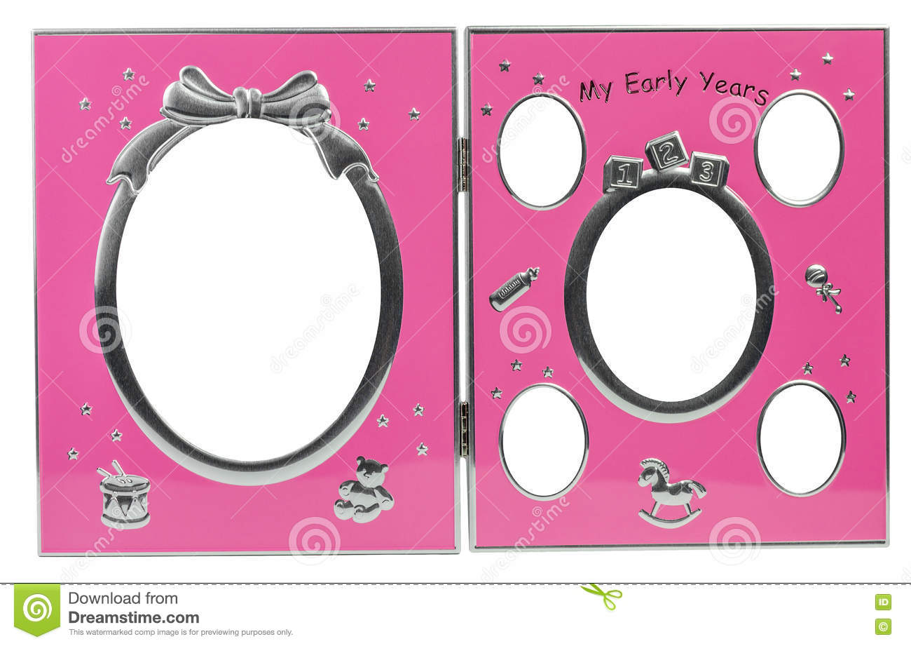 Baby s metal photo frame My first year