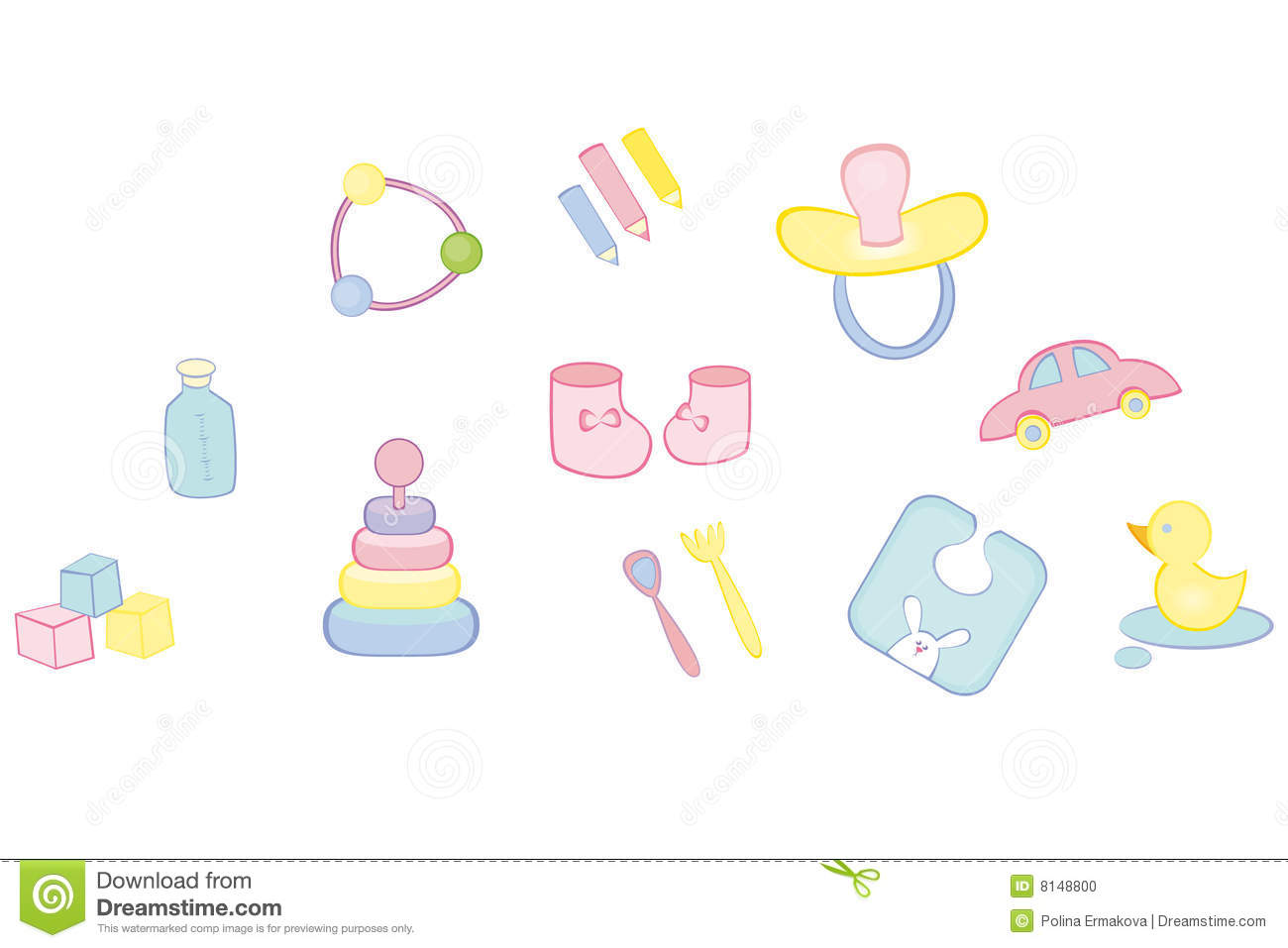 Baby's Things Stock Photo - Image: 8148800