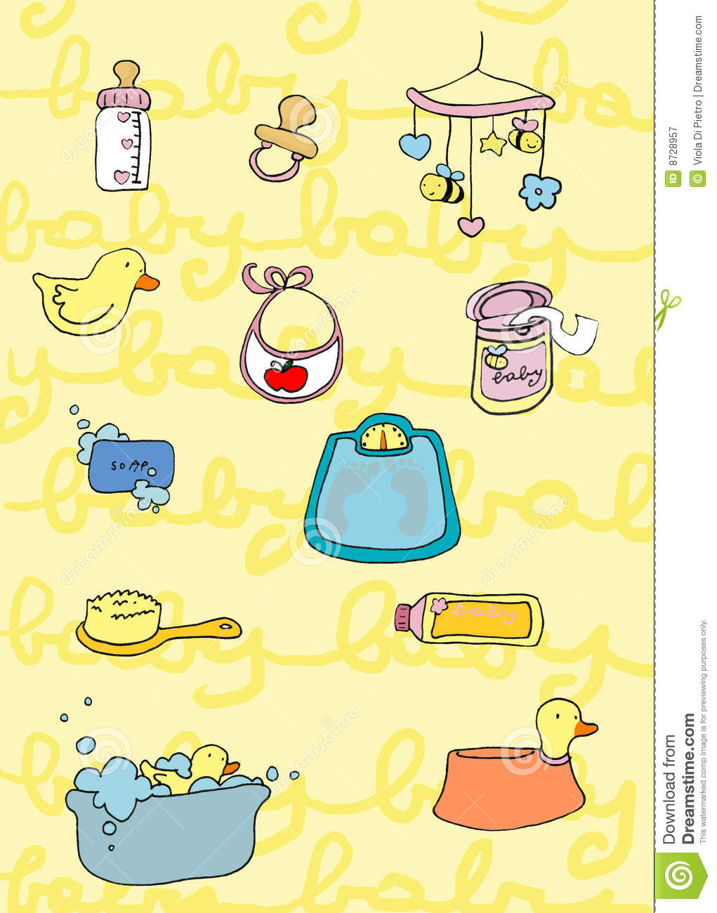 Baby's Things Royalty Free Stock Photography - Image: 8728957