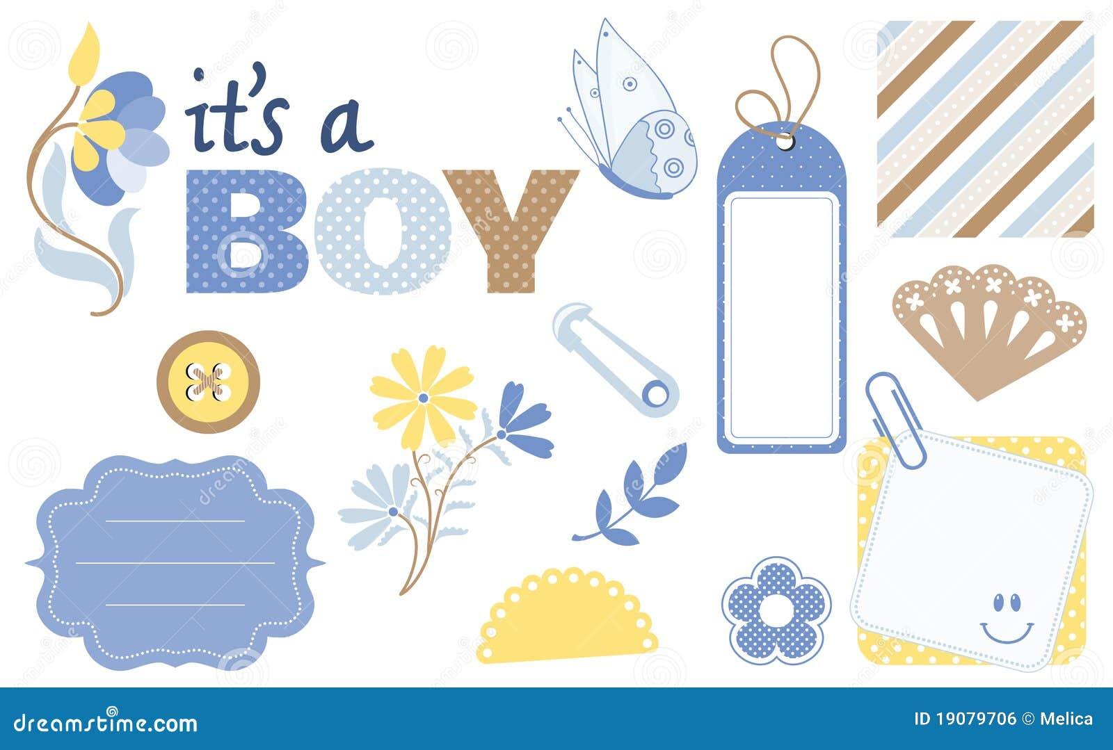 Baby Scrapbook Design Elements Stock Vector Illustration Of