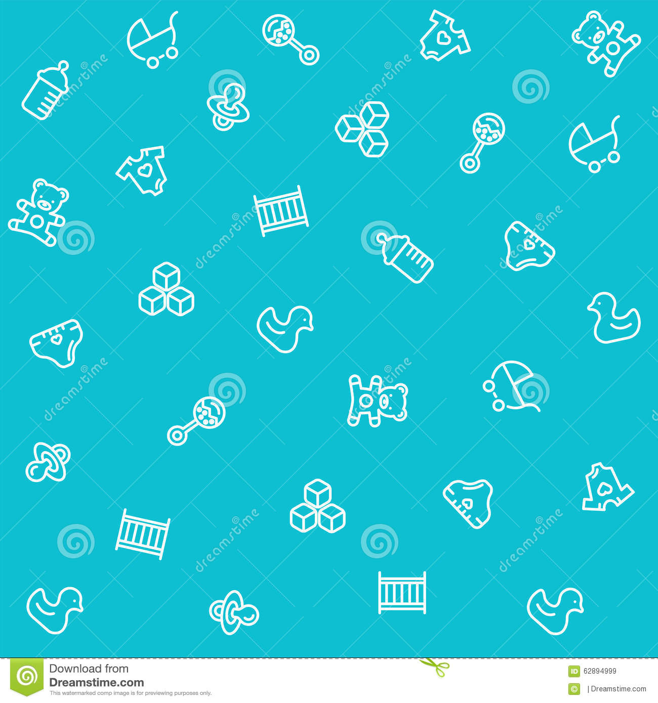 Baby Seamless Pattern Stock Vector - Image: 62894999