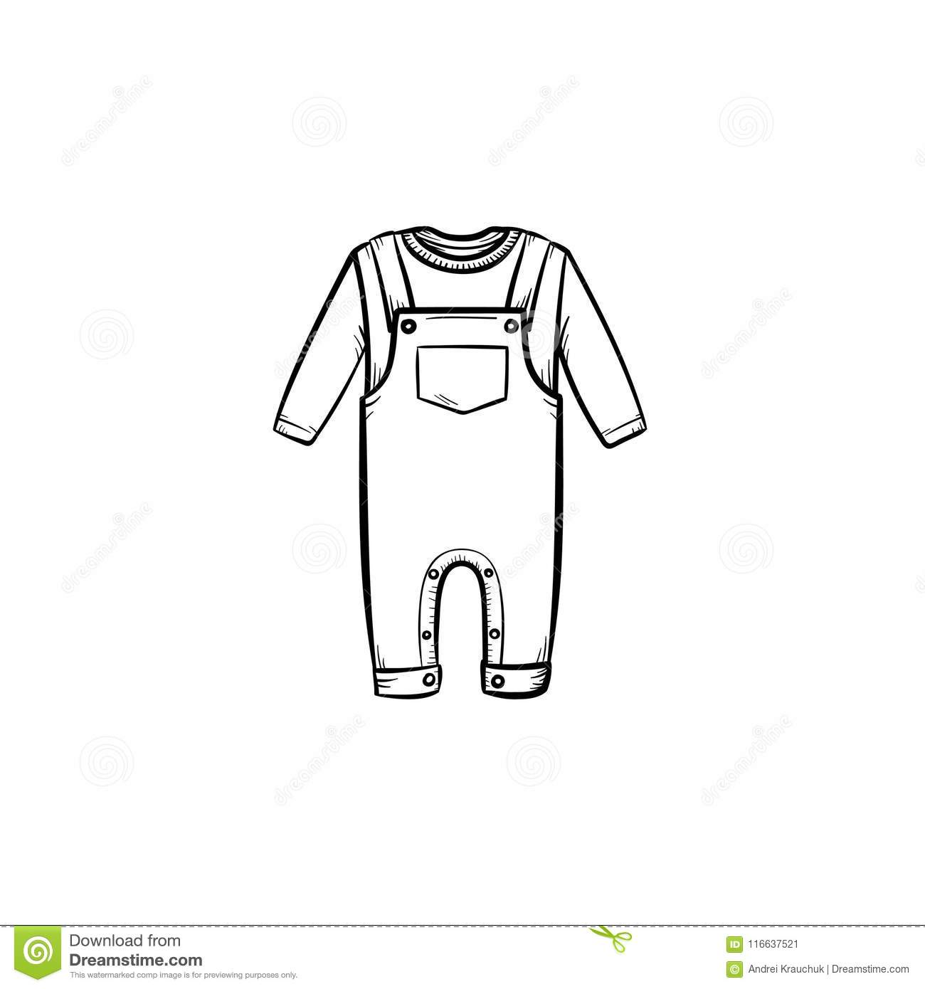 cf67009e1b67 Baby Shirt And Pants Hand Drawn Outline Doodle Icon. Stock Vector ...