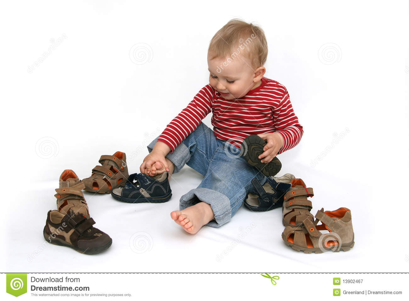 Baby And Shoes Royalty Free Stock Photography - Image ...