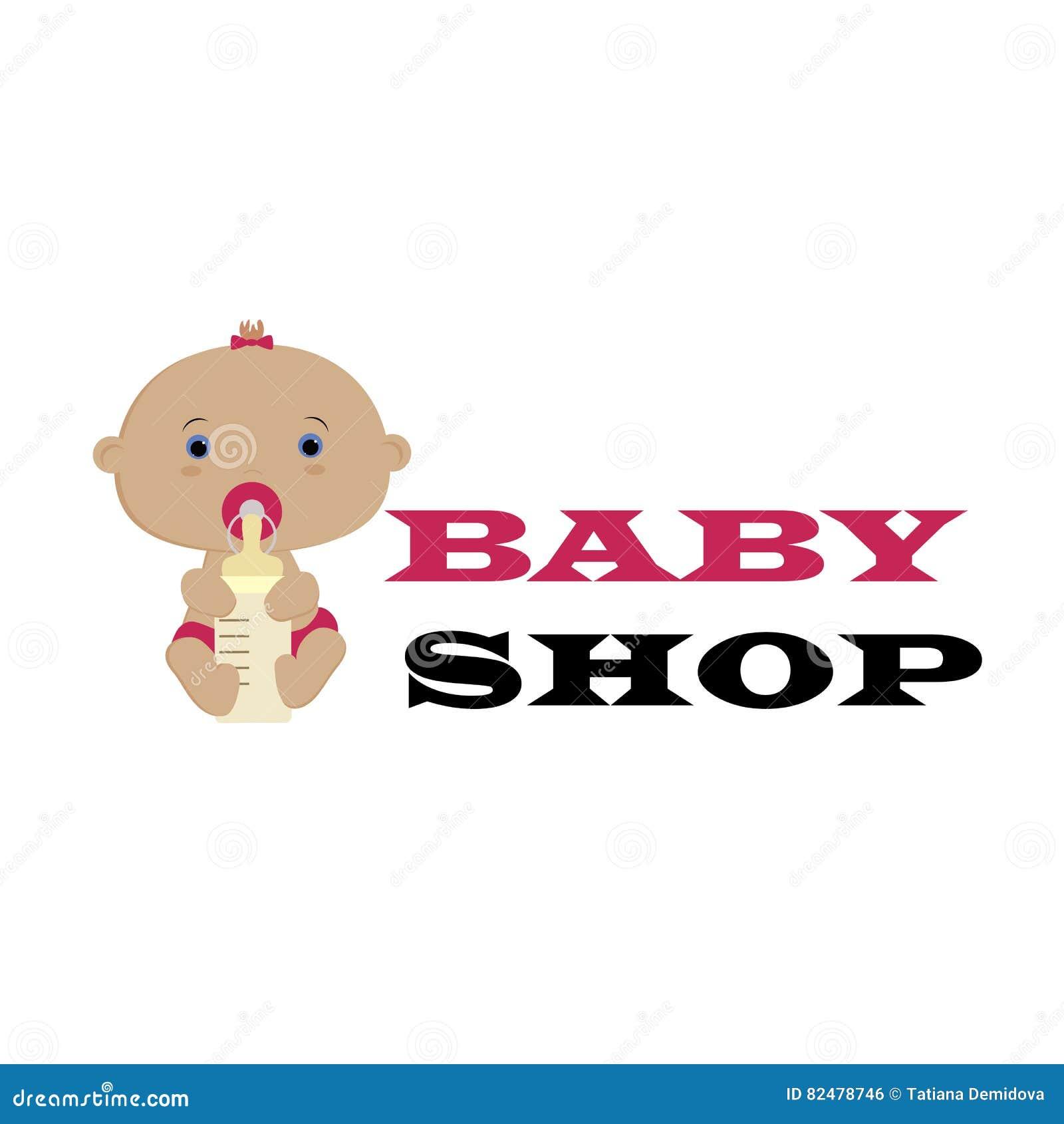 Baby Shop Logo. Pattern For Decoration Or Design. Vector Illustr Stock Vector