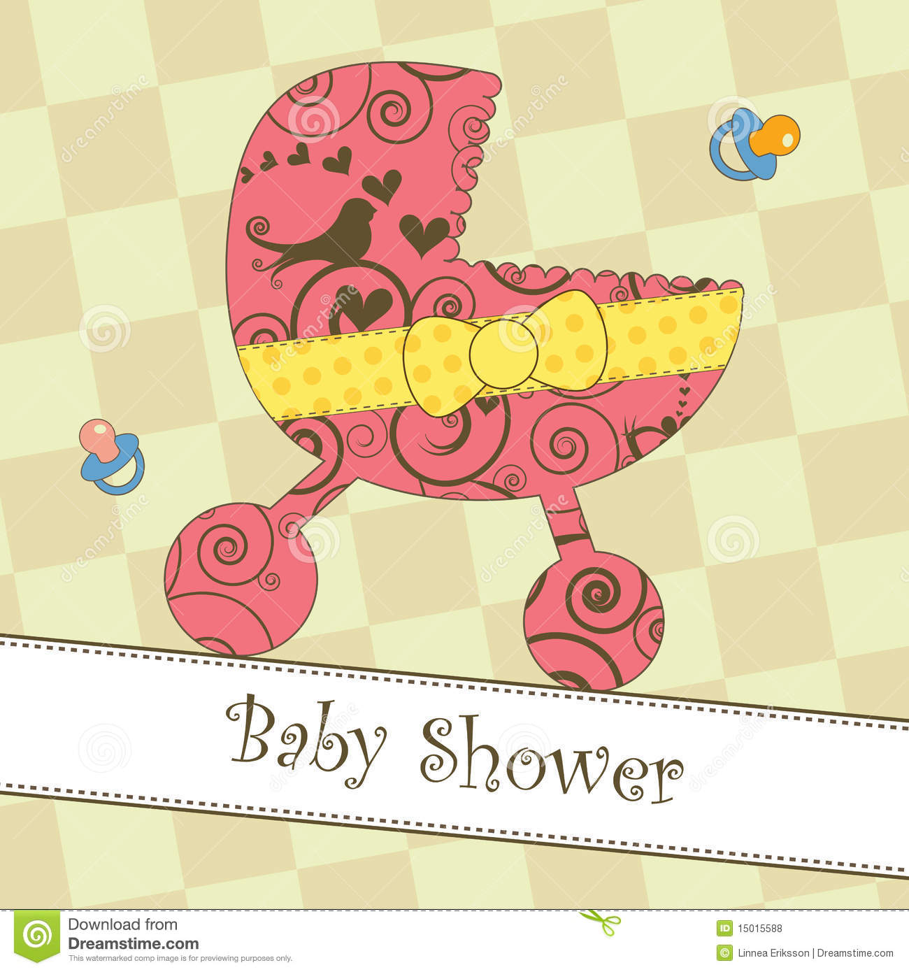 baby shower or arrival card