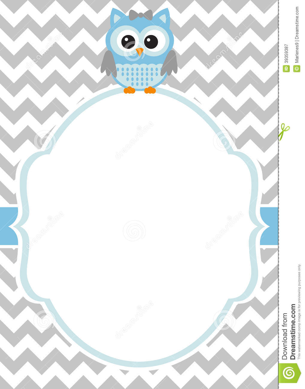 Baby shower - baby boy invitation card template