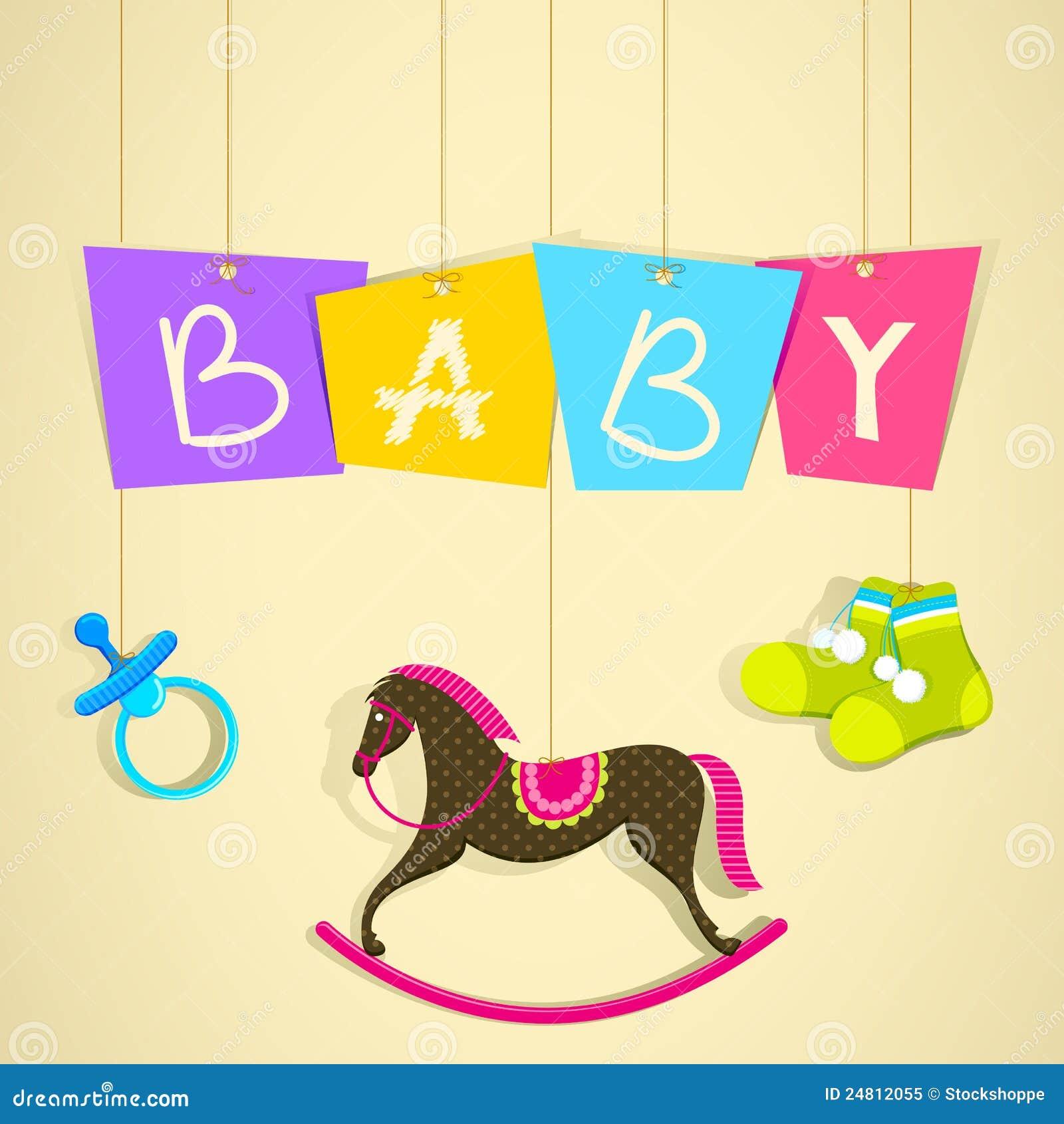 Baby Shower Background Royalty Free Stock Photo Image