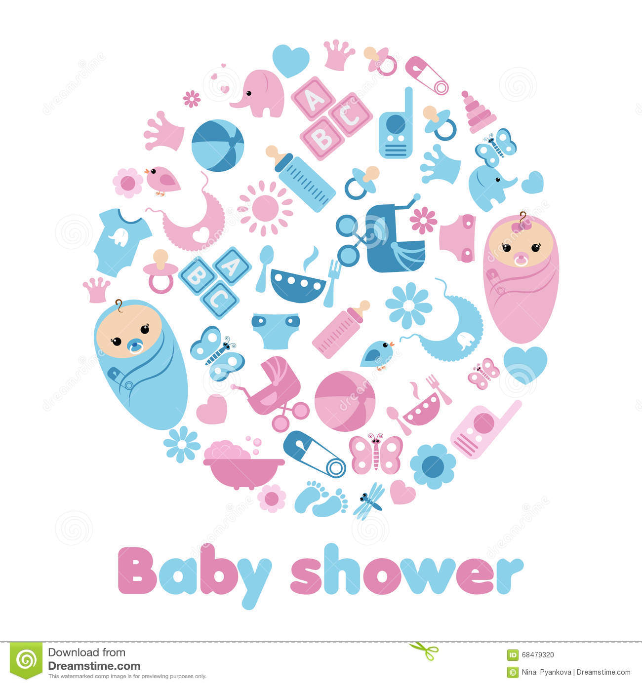 Baby Shower Background Stock Vector Image 68479320