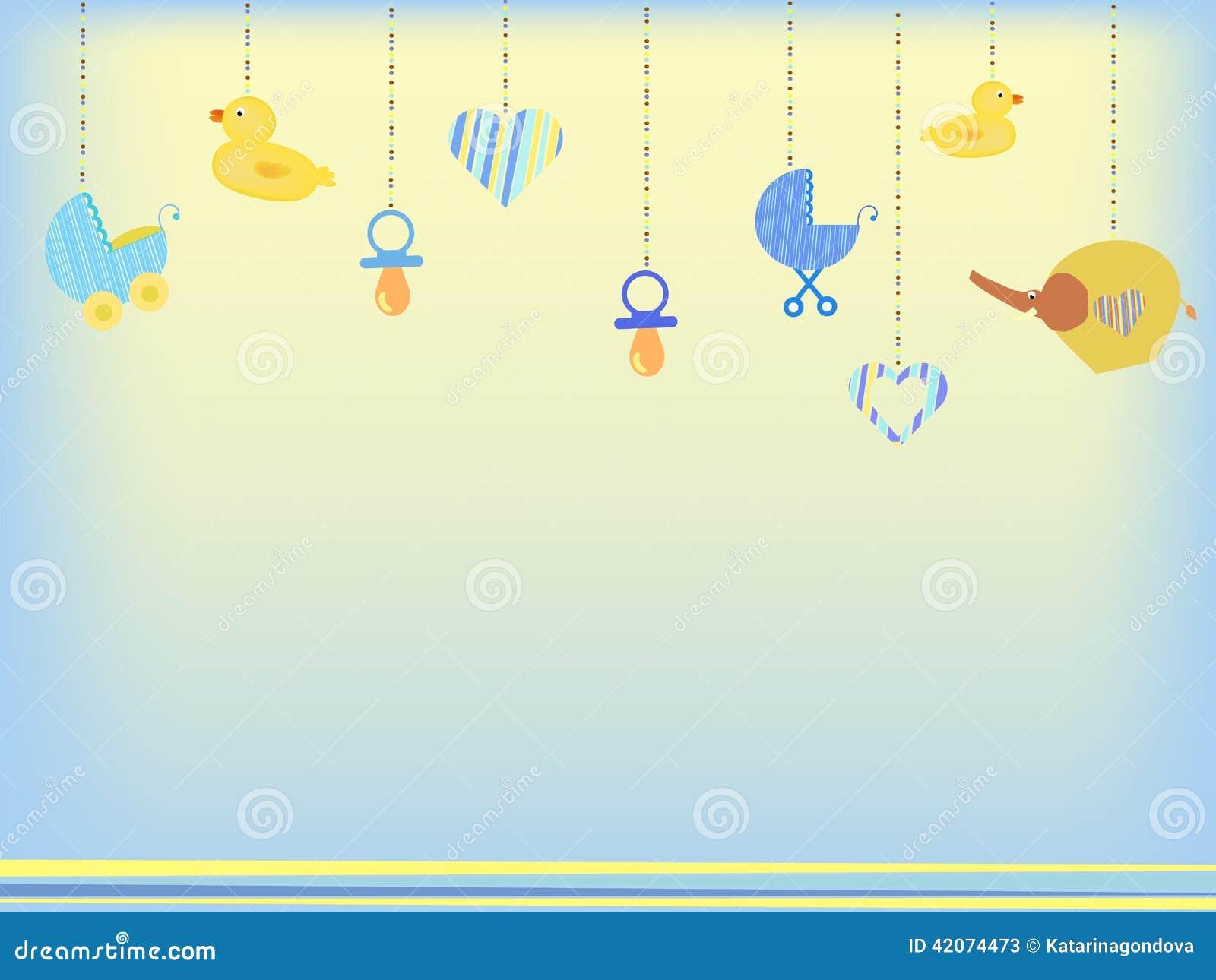 Baby Shower Background Stock Illustration Illustration Of