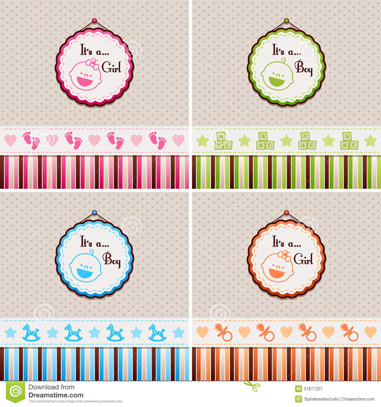Baby Shower Backgrounds Royalty Free Stock Photography