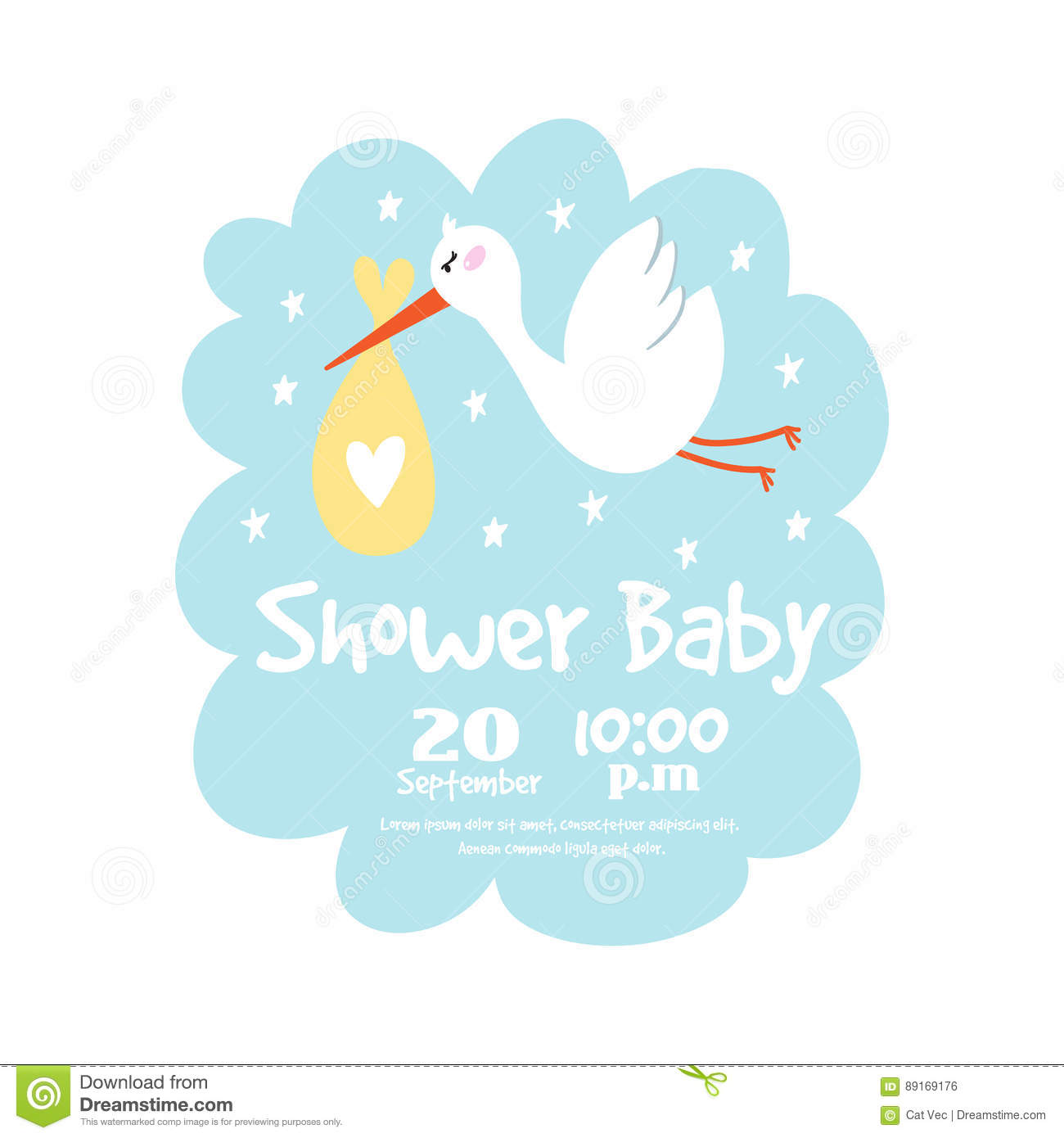 Baby Shower Badge Happy Mothers Day Insignias Stork Sticker Stamp Icon  Frame And Bird Card Design