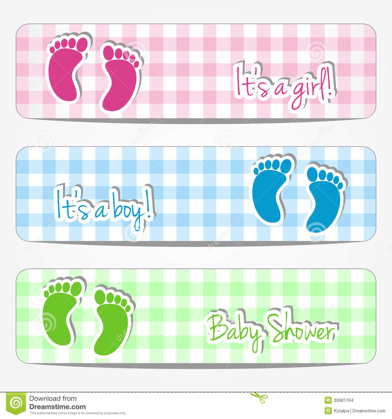 Baby Shower Banners Stock Images Image 30681704