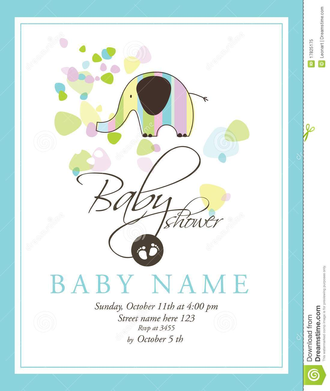 baby shower card royalty free stock photo image 17825175