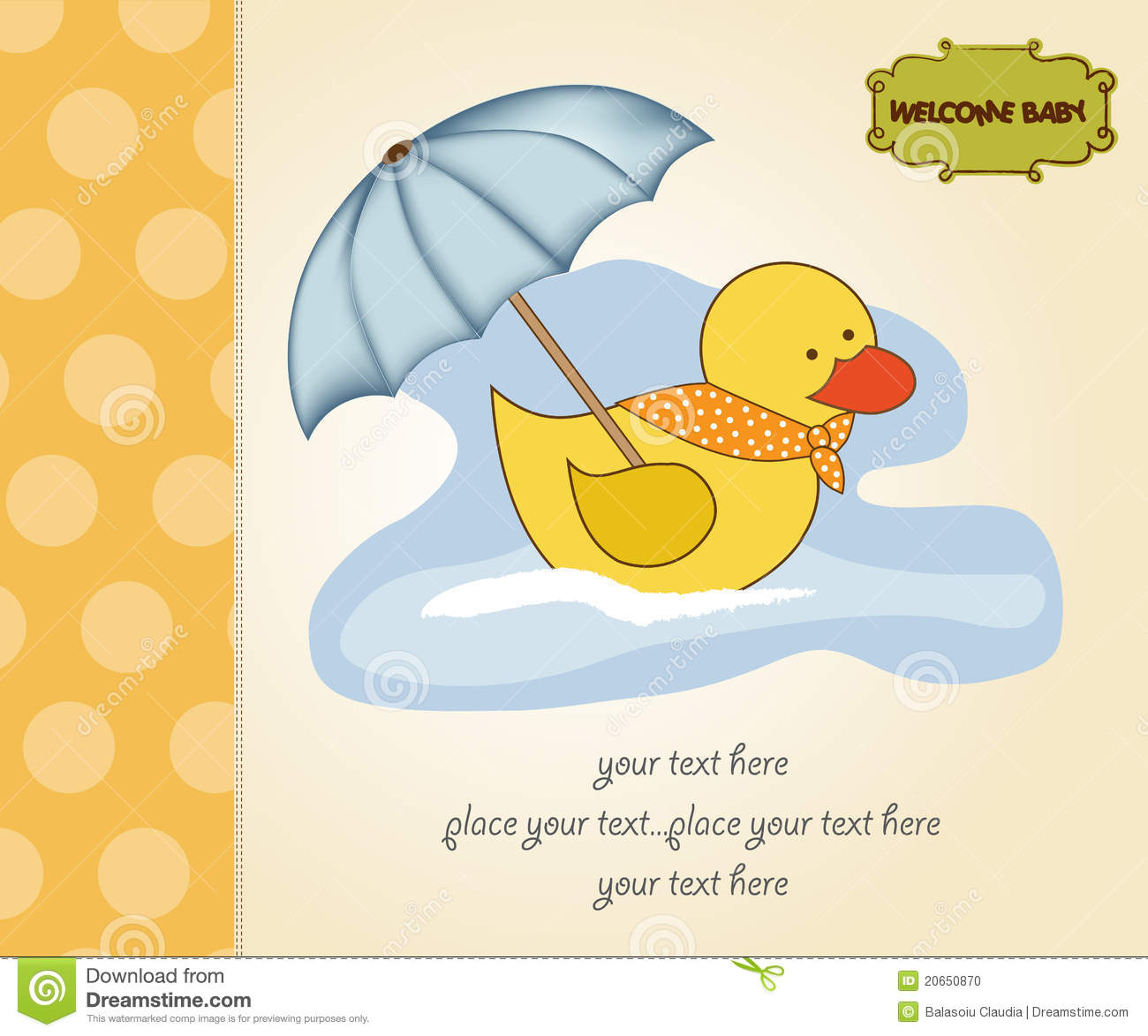 Baby Shower Card Stock Photo - Image: 20650870
