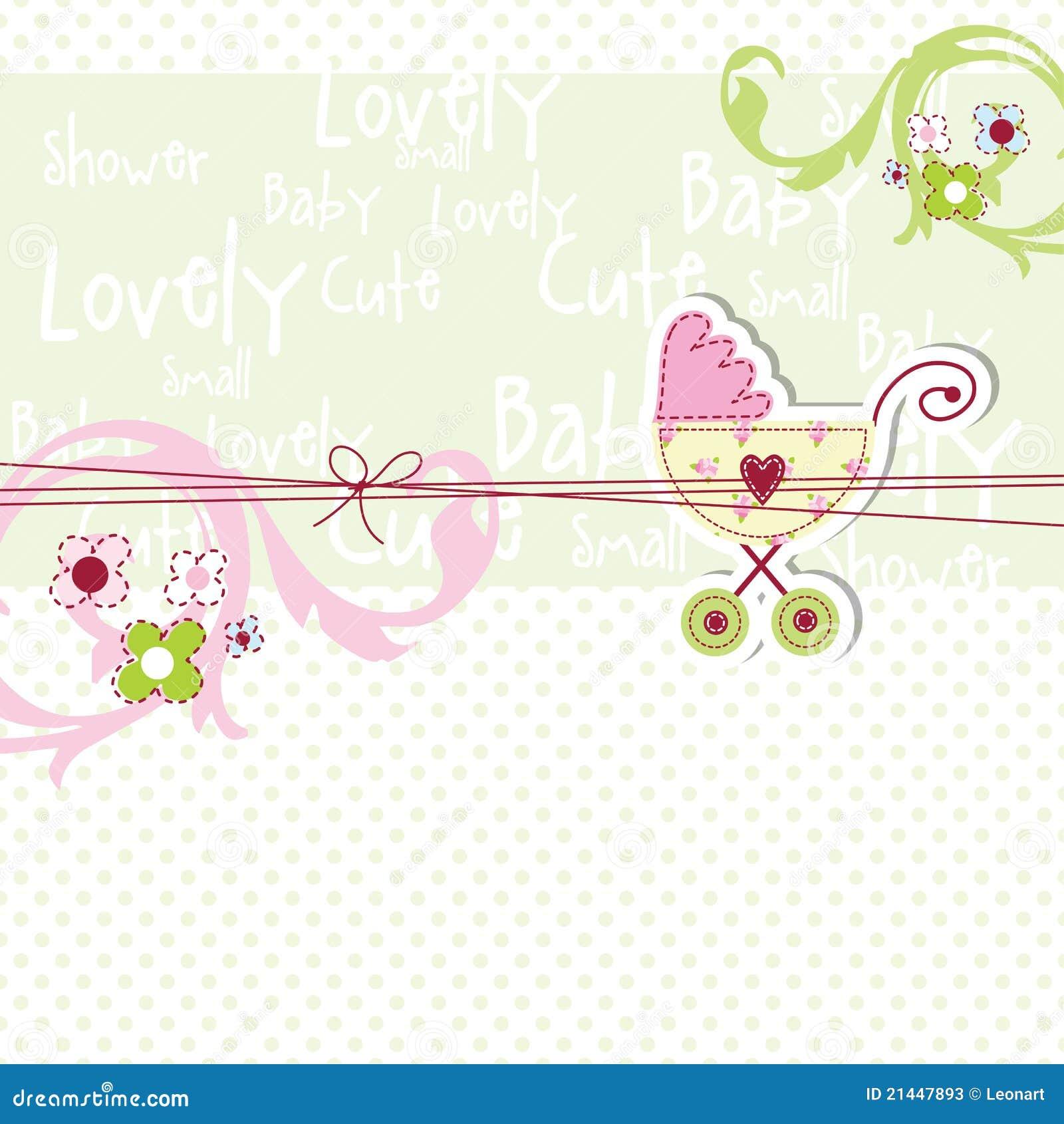 Stock photos baby shower card