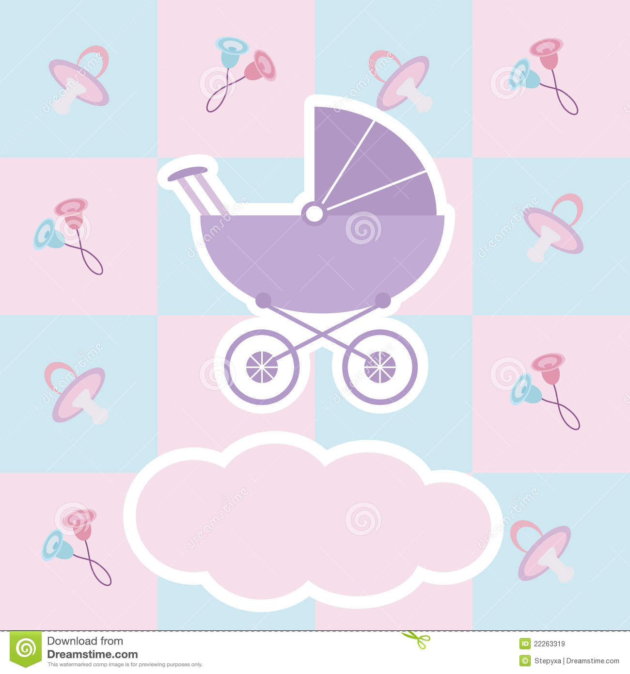 Baby Shower Card Royalty Free Stock Images - Image: 22263319