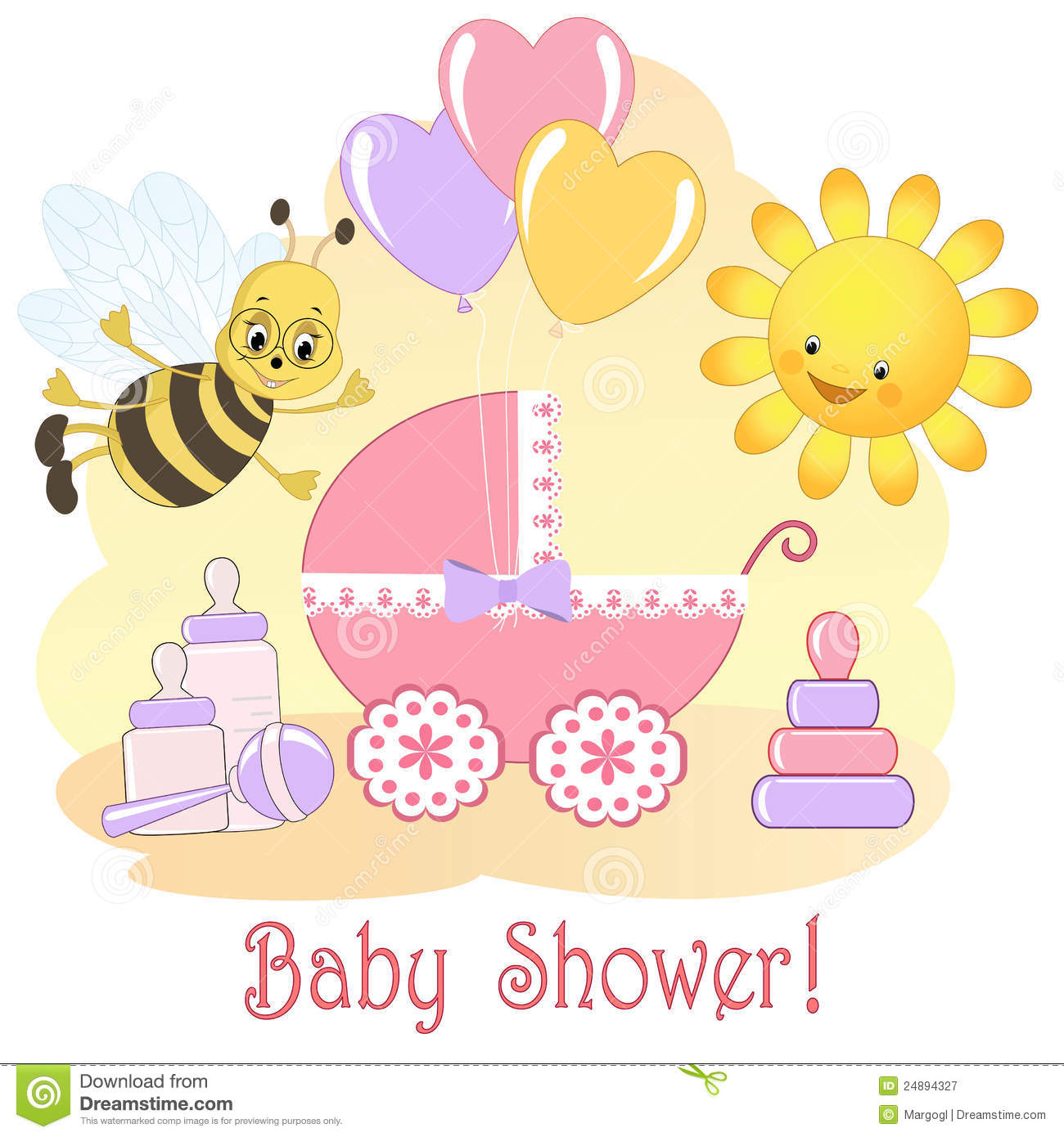 Baby Shower Card. Royalty Free Stock Photography