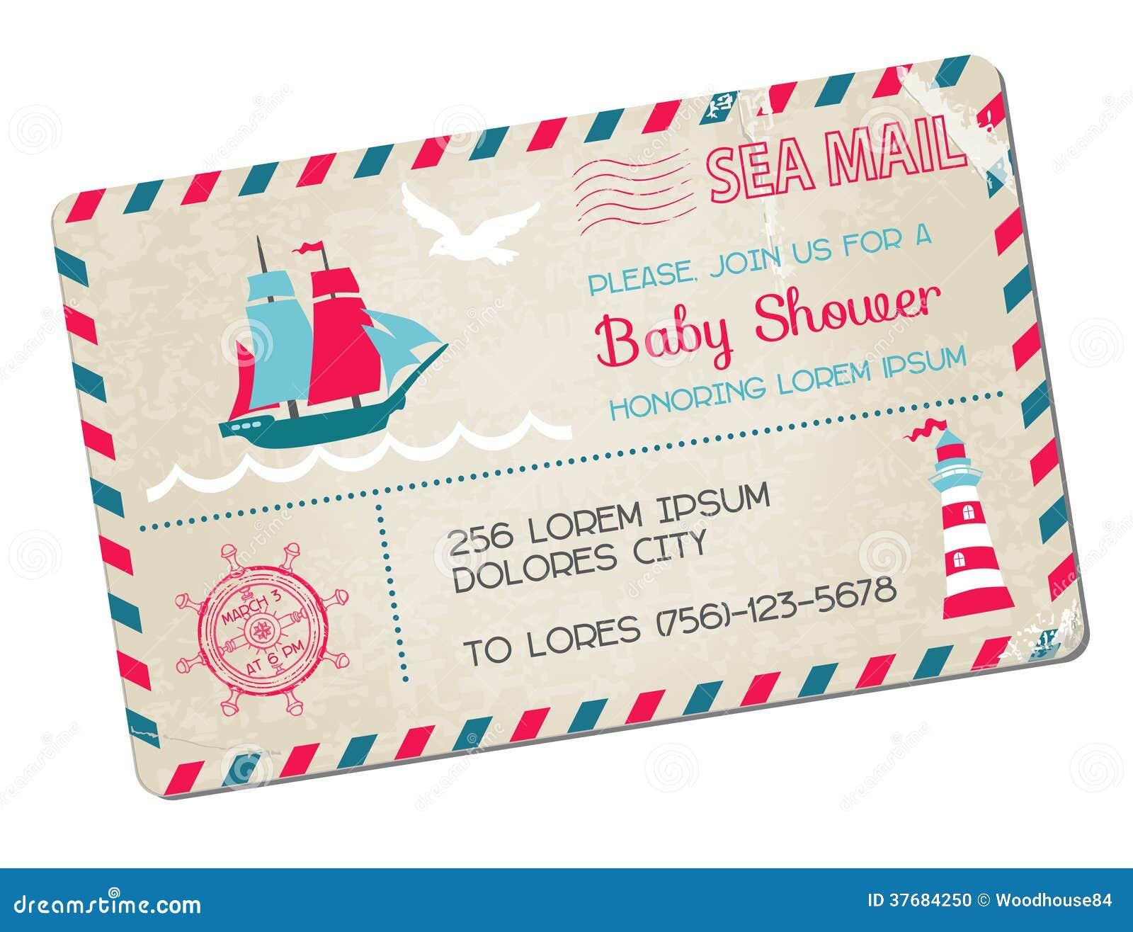 Baby Shower Karte Text.Baby Shower Card Stock Vector Illustration Of Girl Birth