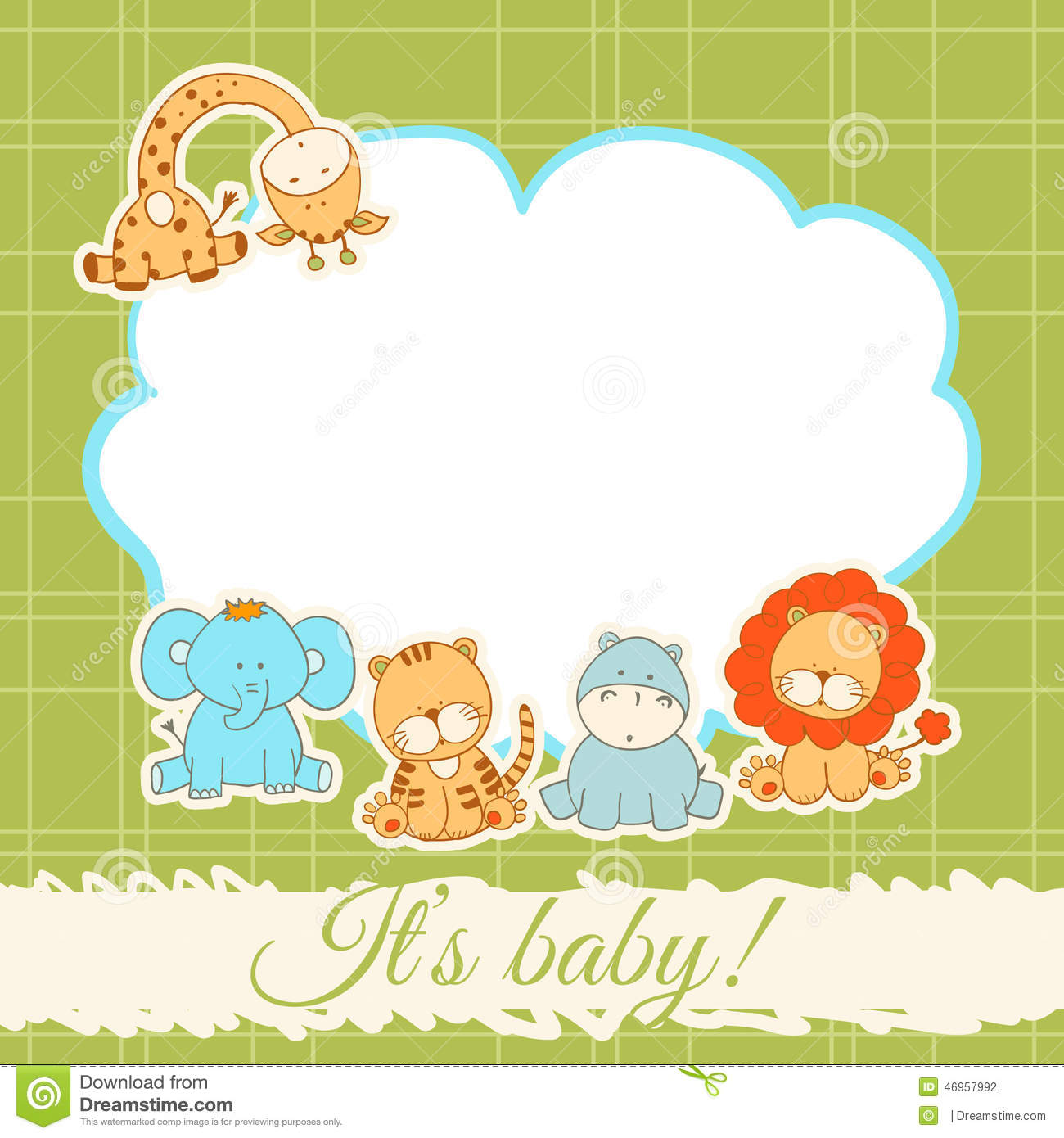 baby shower card stock vector image 46957992