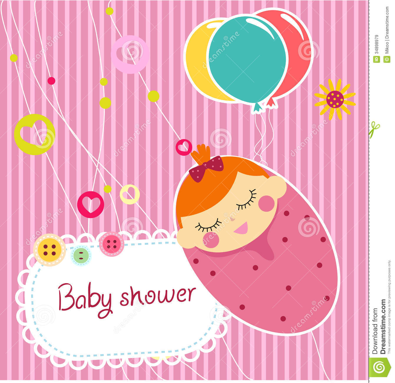 Baby Shower Cartoon Images ~ Baby shower card royalty free stock images image