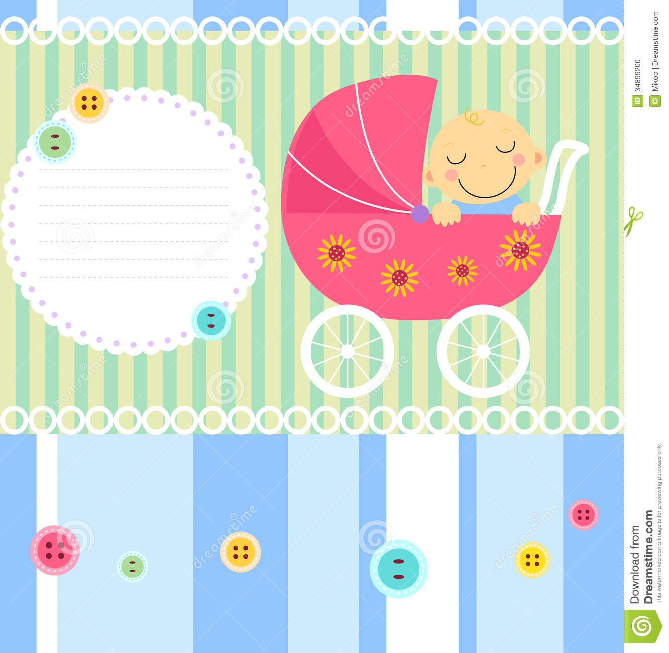 Baby Shower Cartoon Images ~ Baby shower card stock vector image of happy balloon