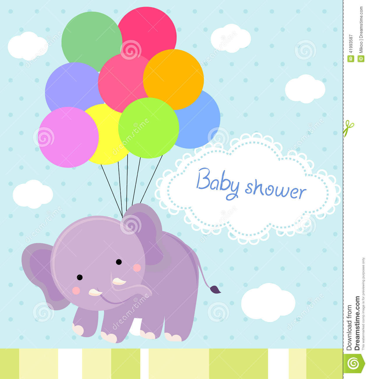 Baby Shower Cartoon Images ~ Baby shower stock vector image
