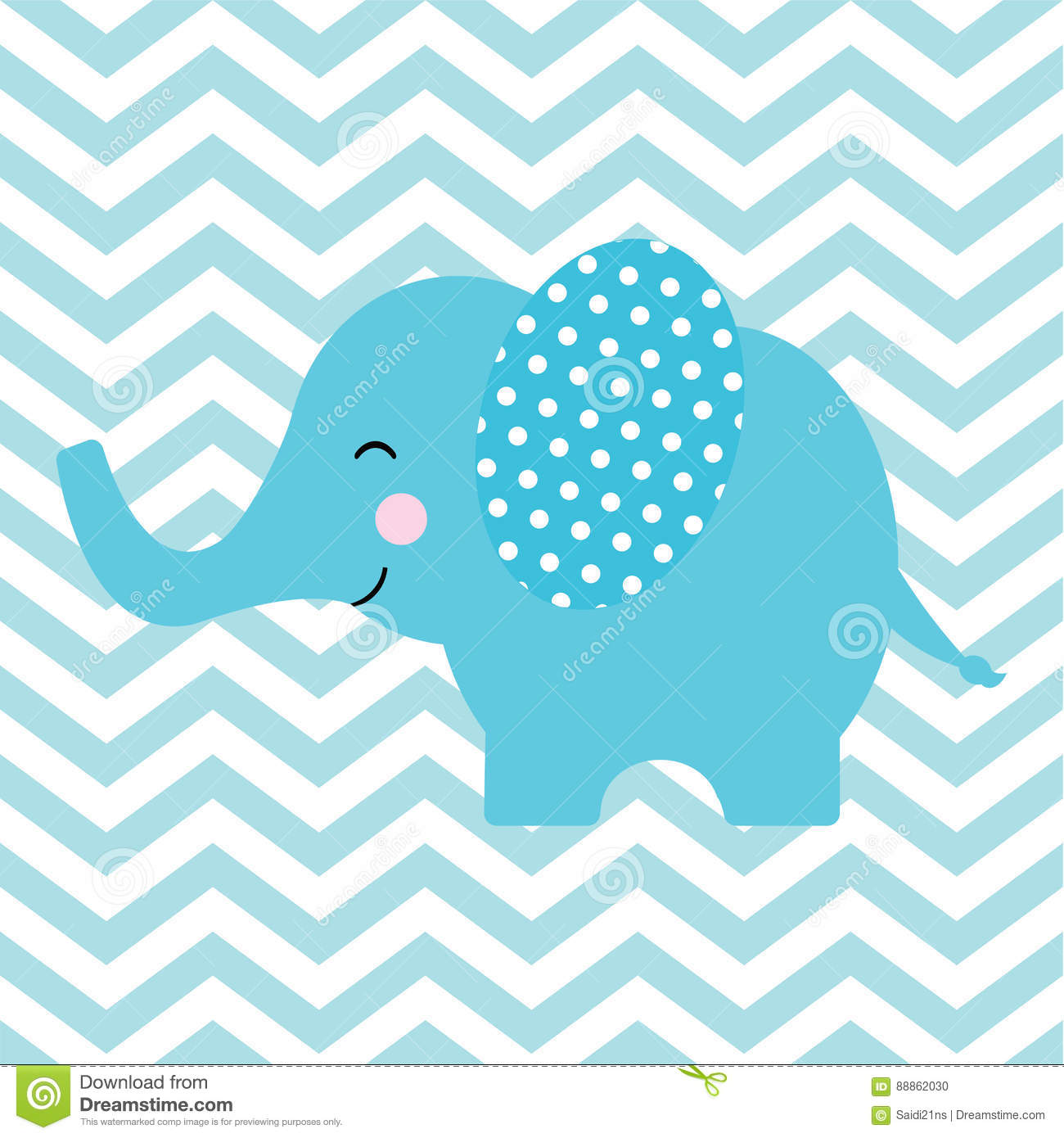 Cute Chevron Backgrounds With Elephant Www Imgkid Com