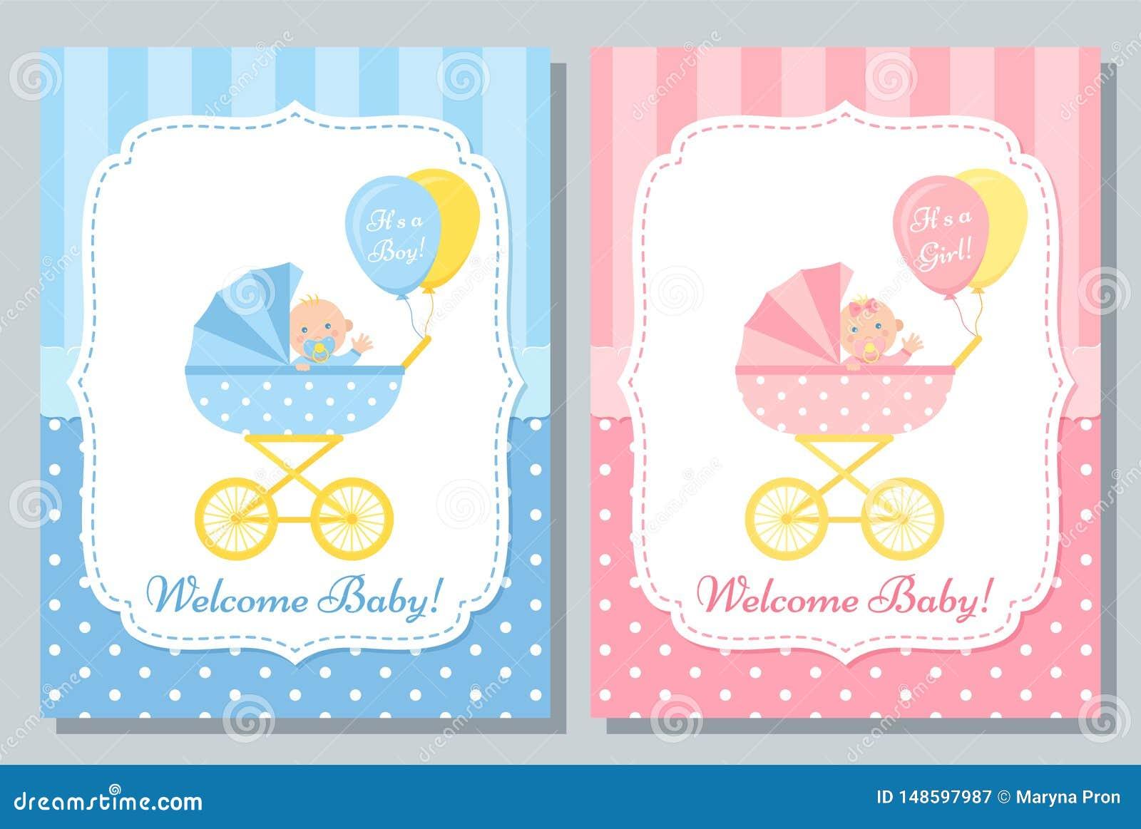 Baby Shower Card Design Vector Illustration Birthday Template Invite Stock Vector Illustration Of Announcement Flyer 148597987