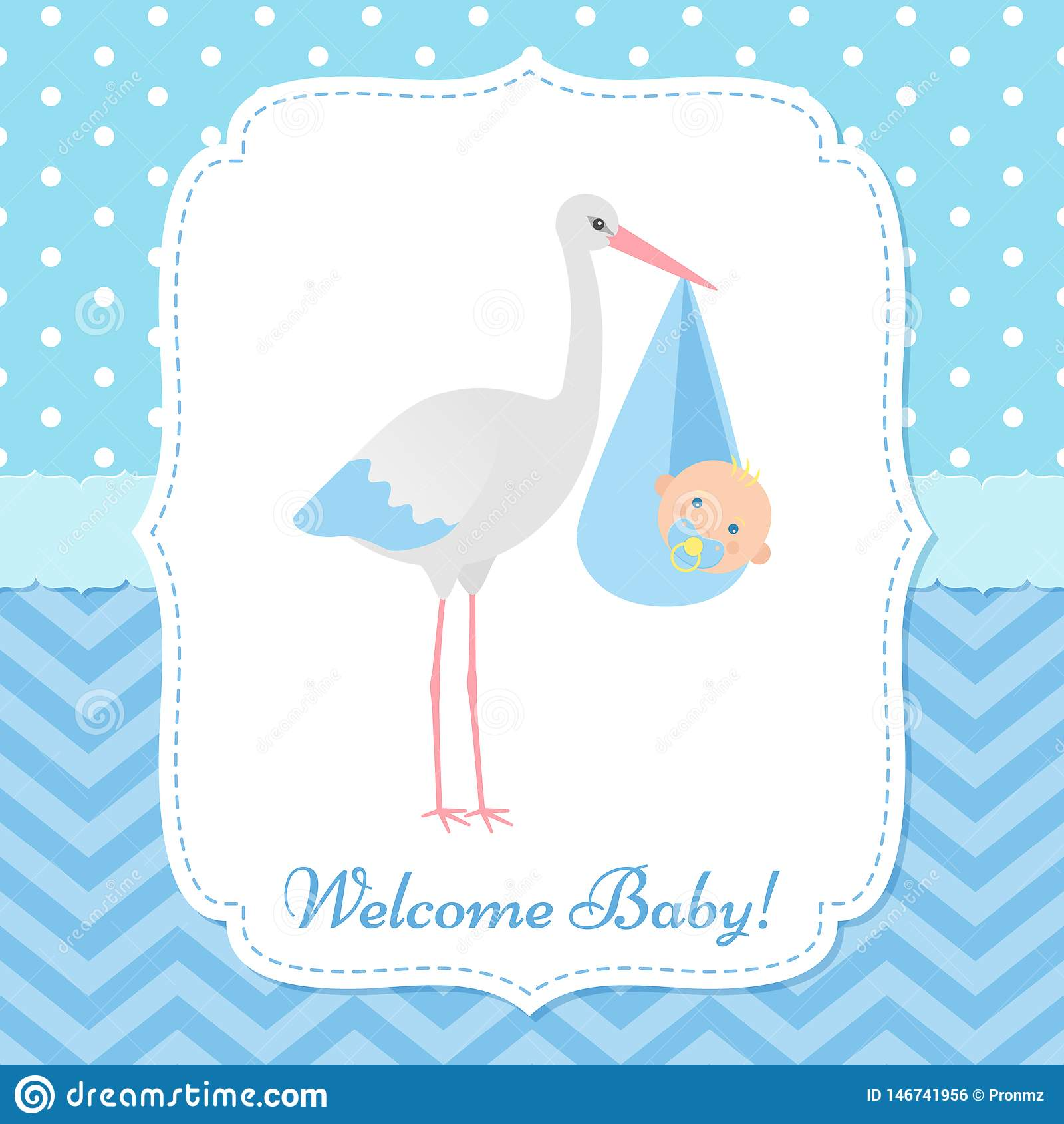 Baby Shower Card Design Vector Illustration Birthday