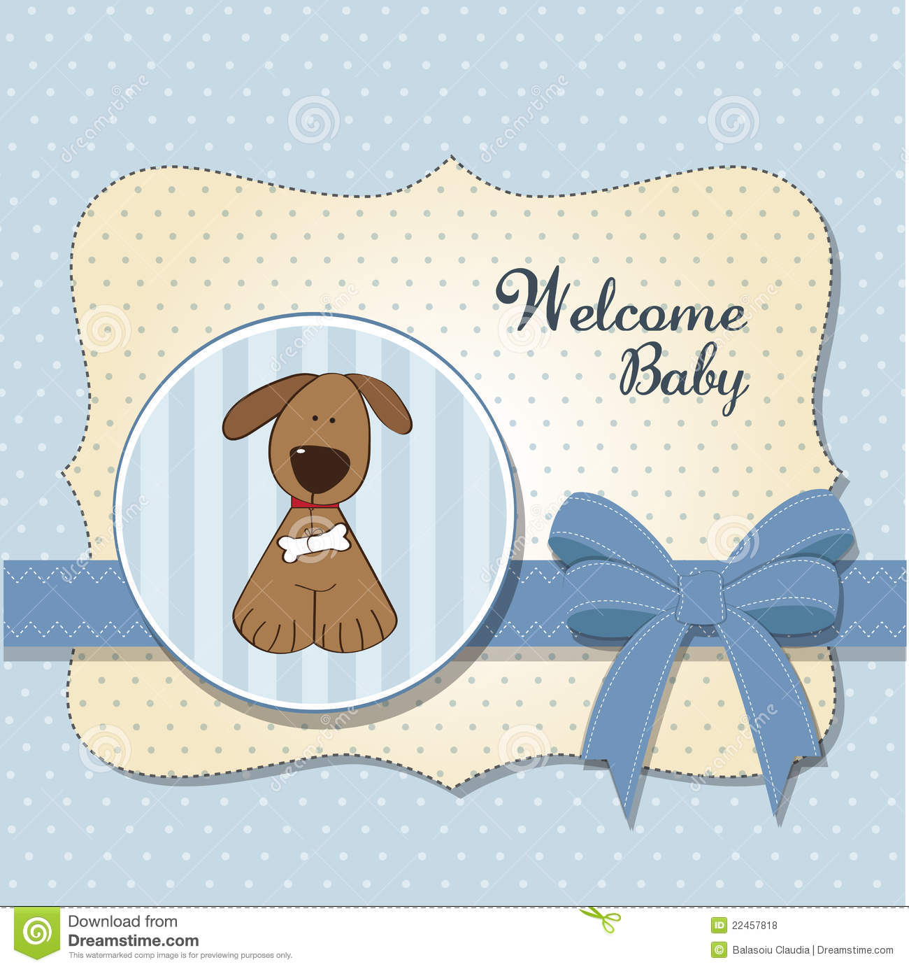 Nice Baby Shower Card With Dog