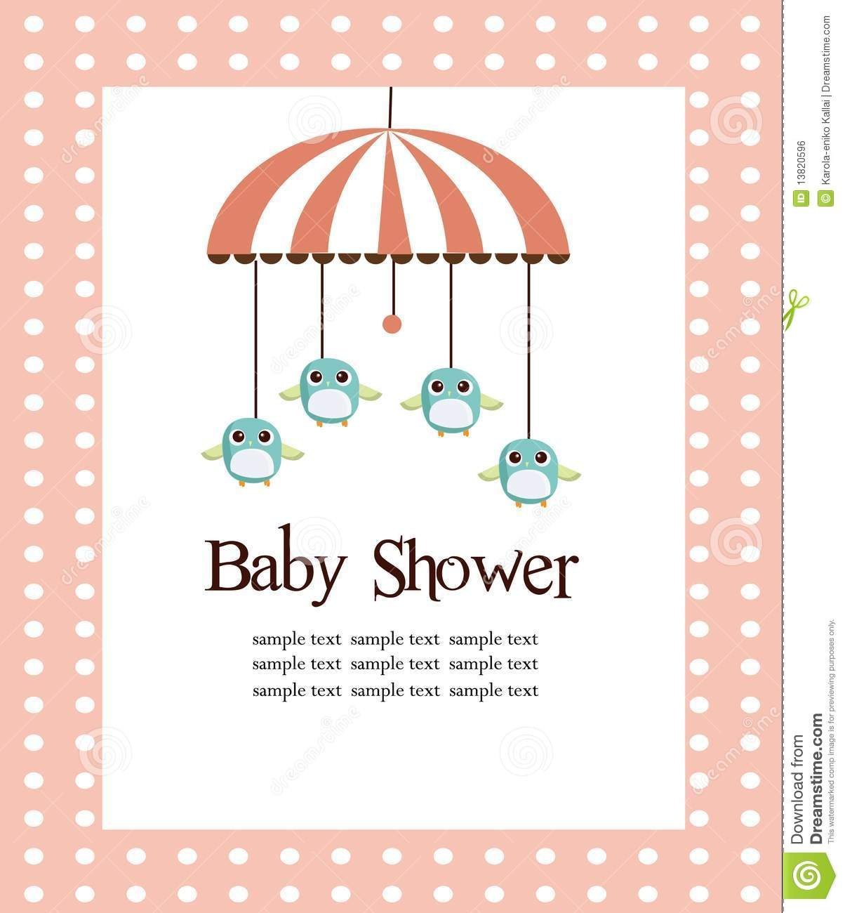 Royalty Free Stock Photo. Download Baby Shower Card ...