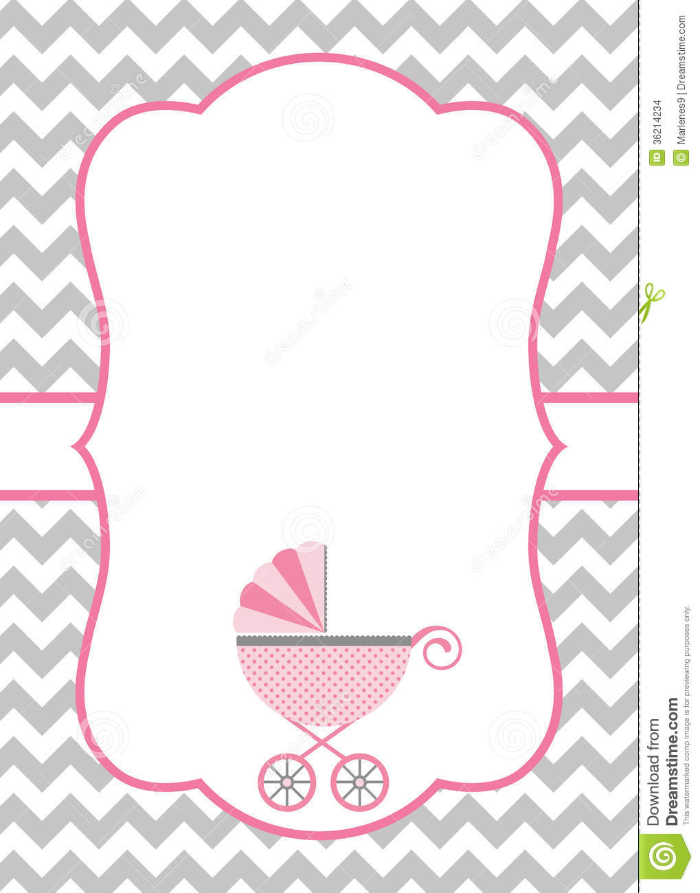 Baby Shower Card Stock Images - Image: 36214234