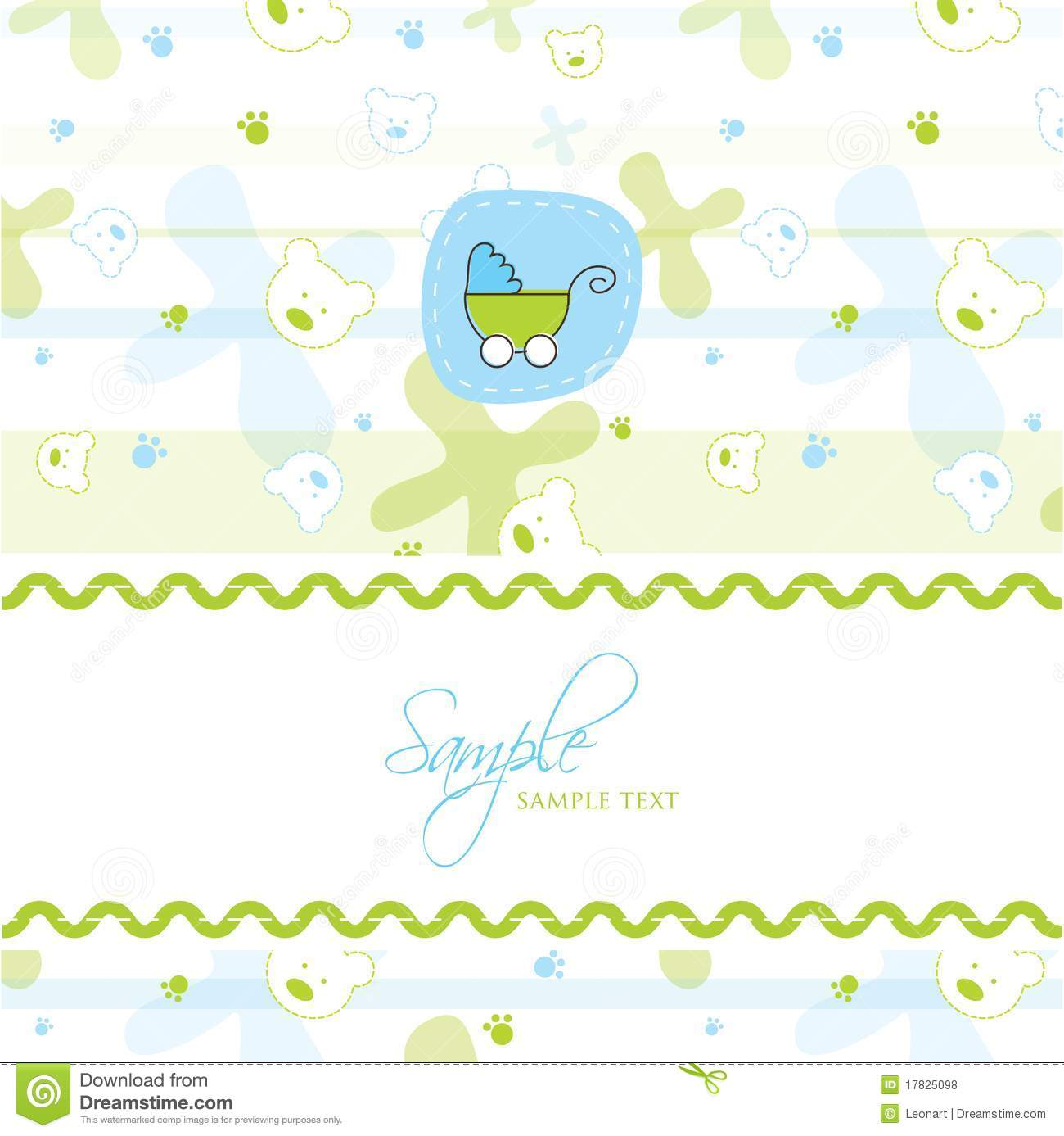 Baby Shower Card Template Royalty Free Stock Photos - Image: 17825098