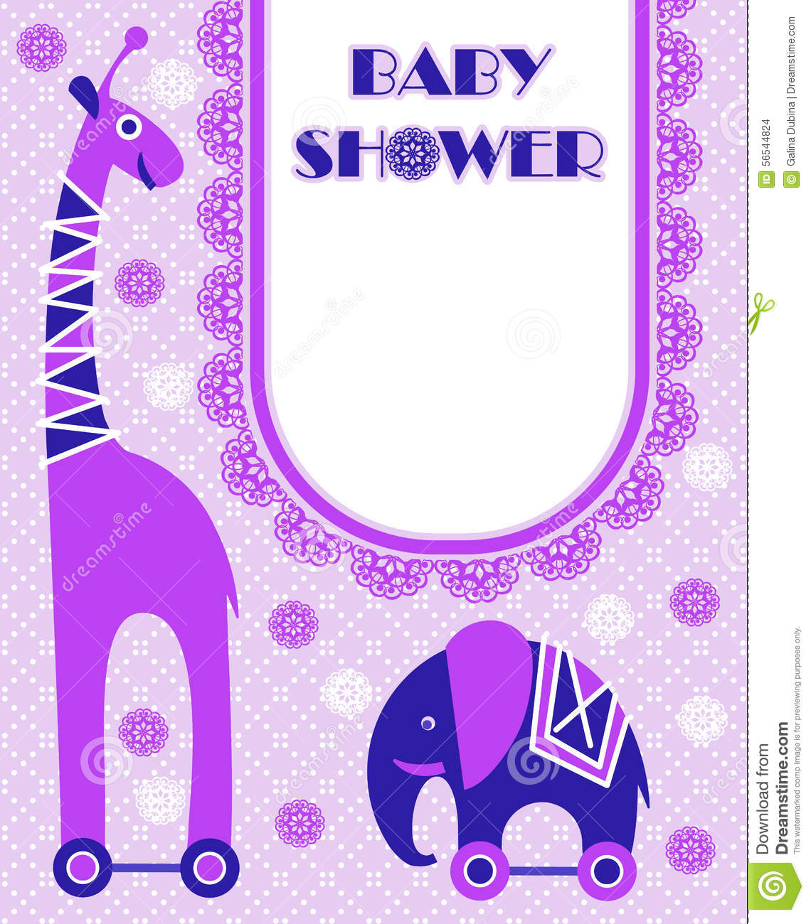 Baby Shower Card Template Stock Vector   Image  56544824 WiFr7neR