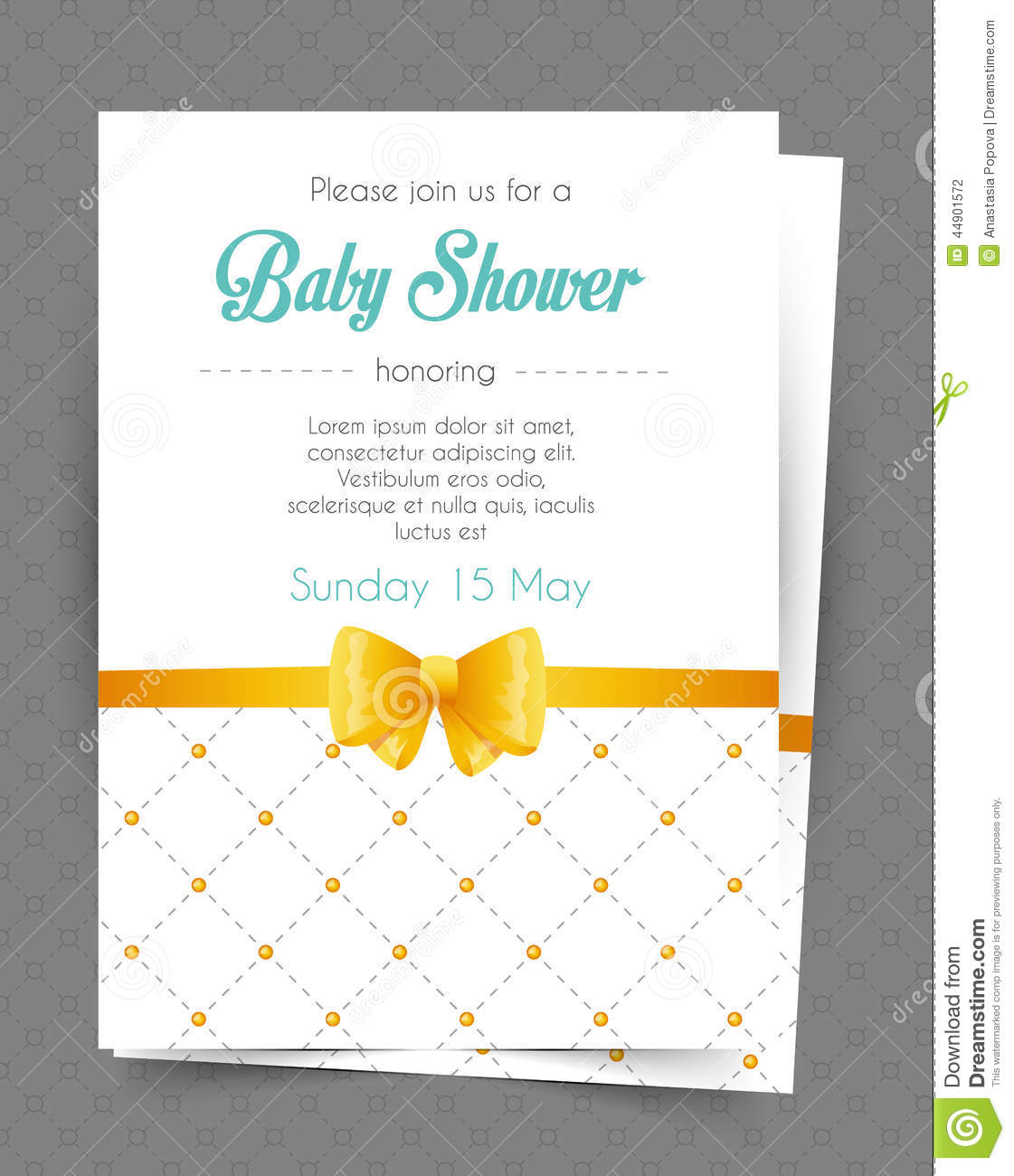baby shower card template stock vector image 44901572