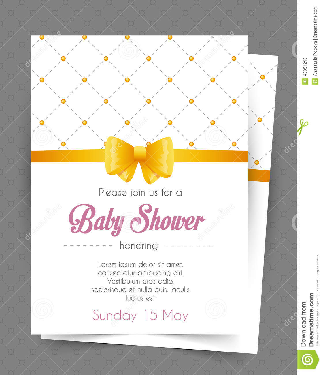 baby shower card template stock vector image 45051299