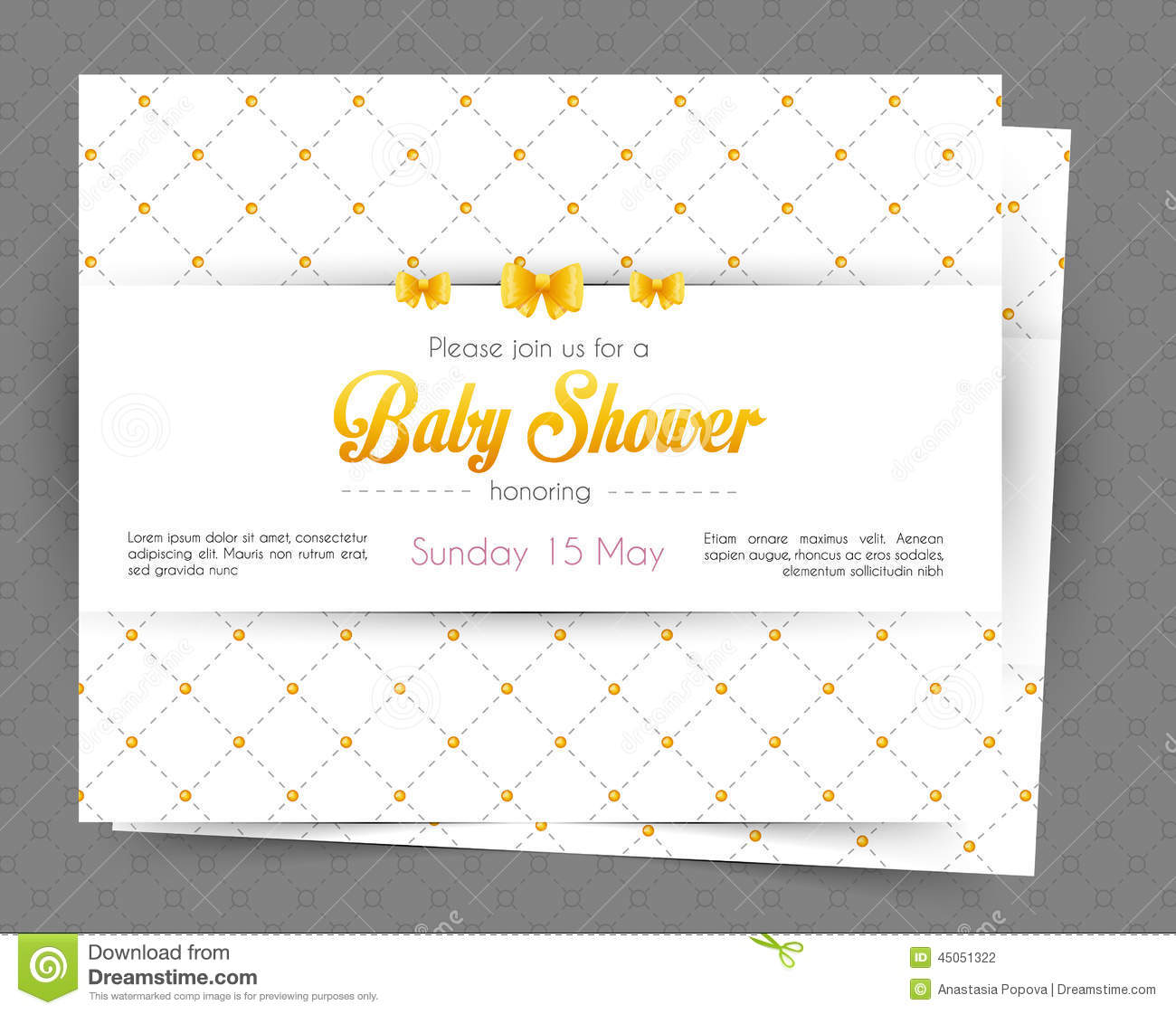 Vector illustration of Baby shower card template.