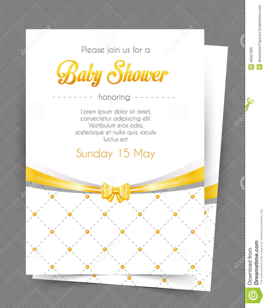 baby shower card template stock vector image 45051366