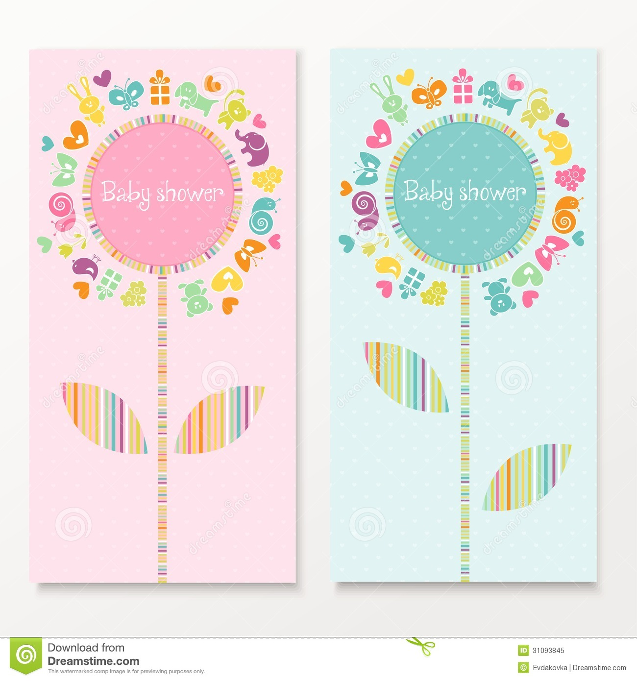 Baby shower card vector | free download.