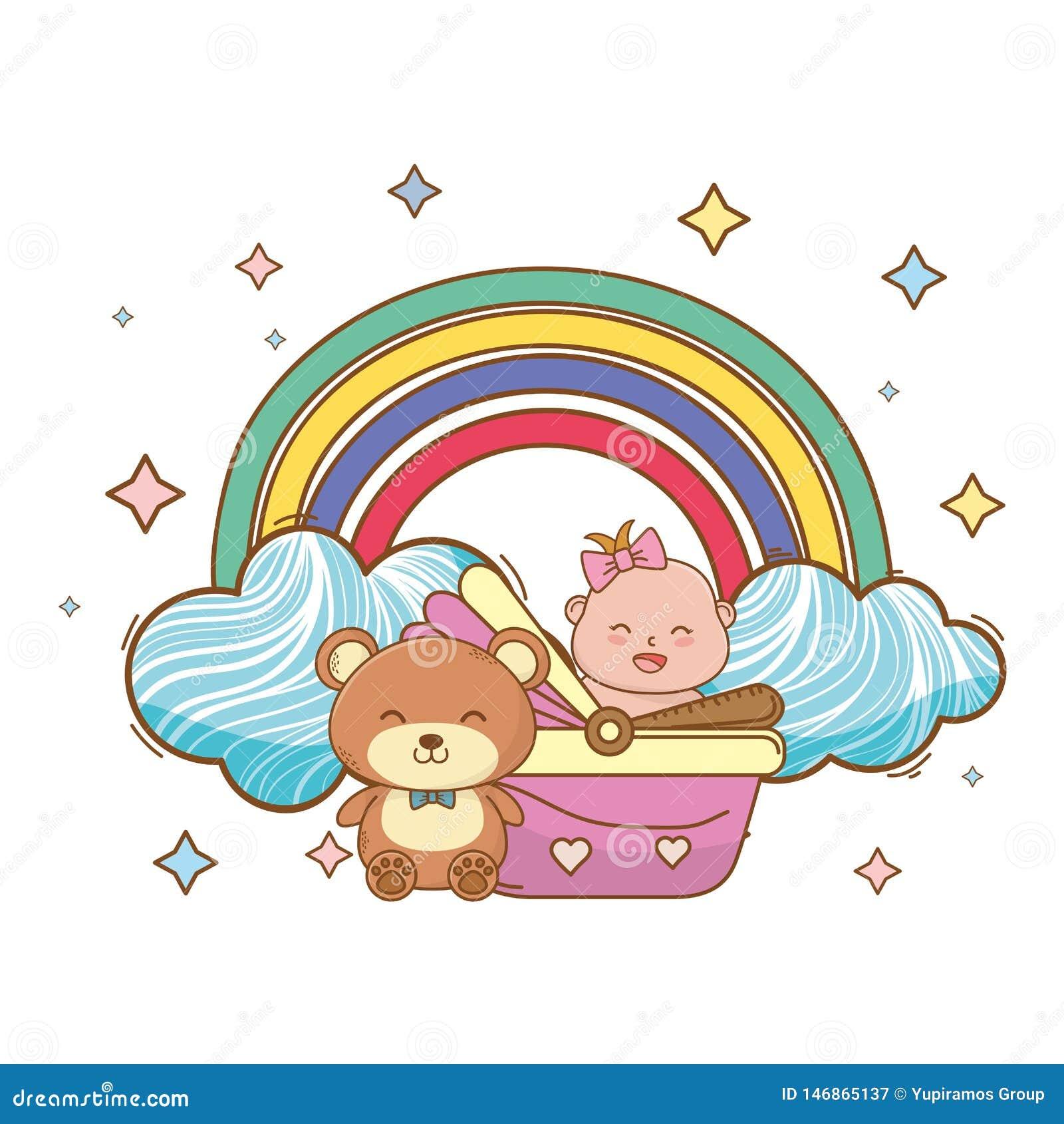Baby shower cartoon card
