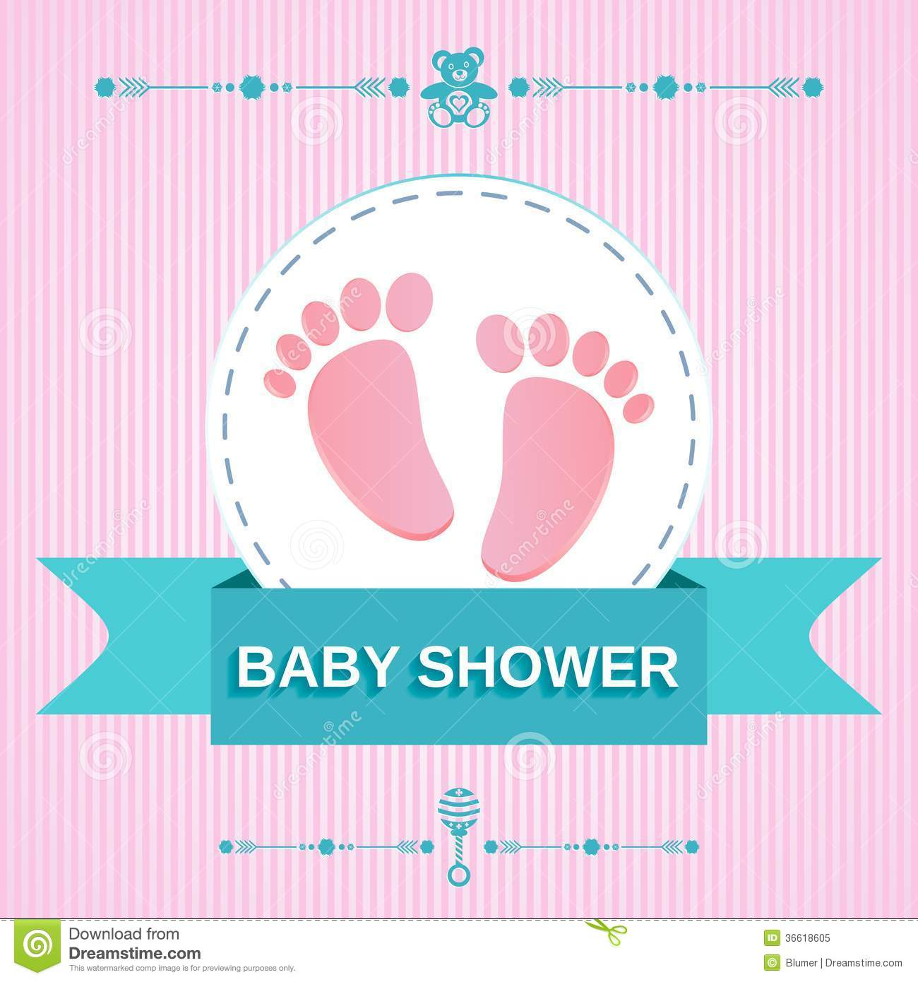 Baby shower design stock illustration illustration of child 36618605 baby shower design stopboris Image collections