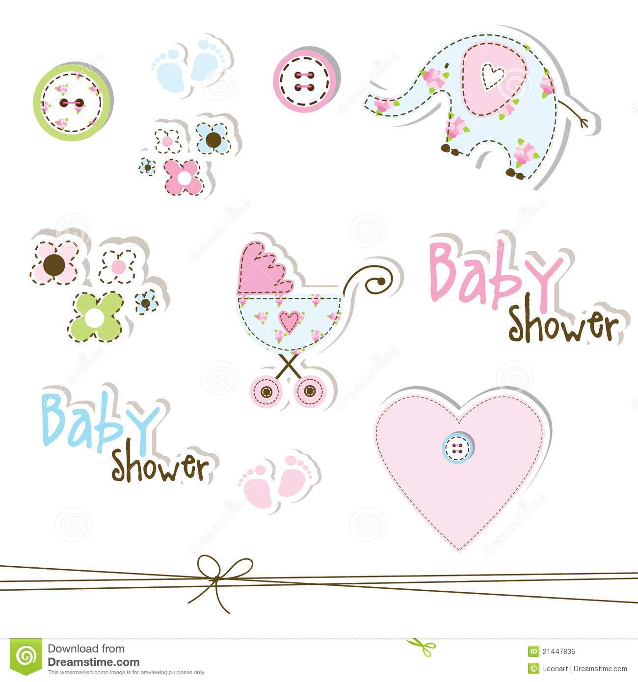 baby shower design elements royalty free stock image image 21447836