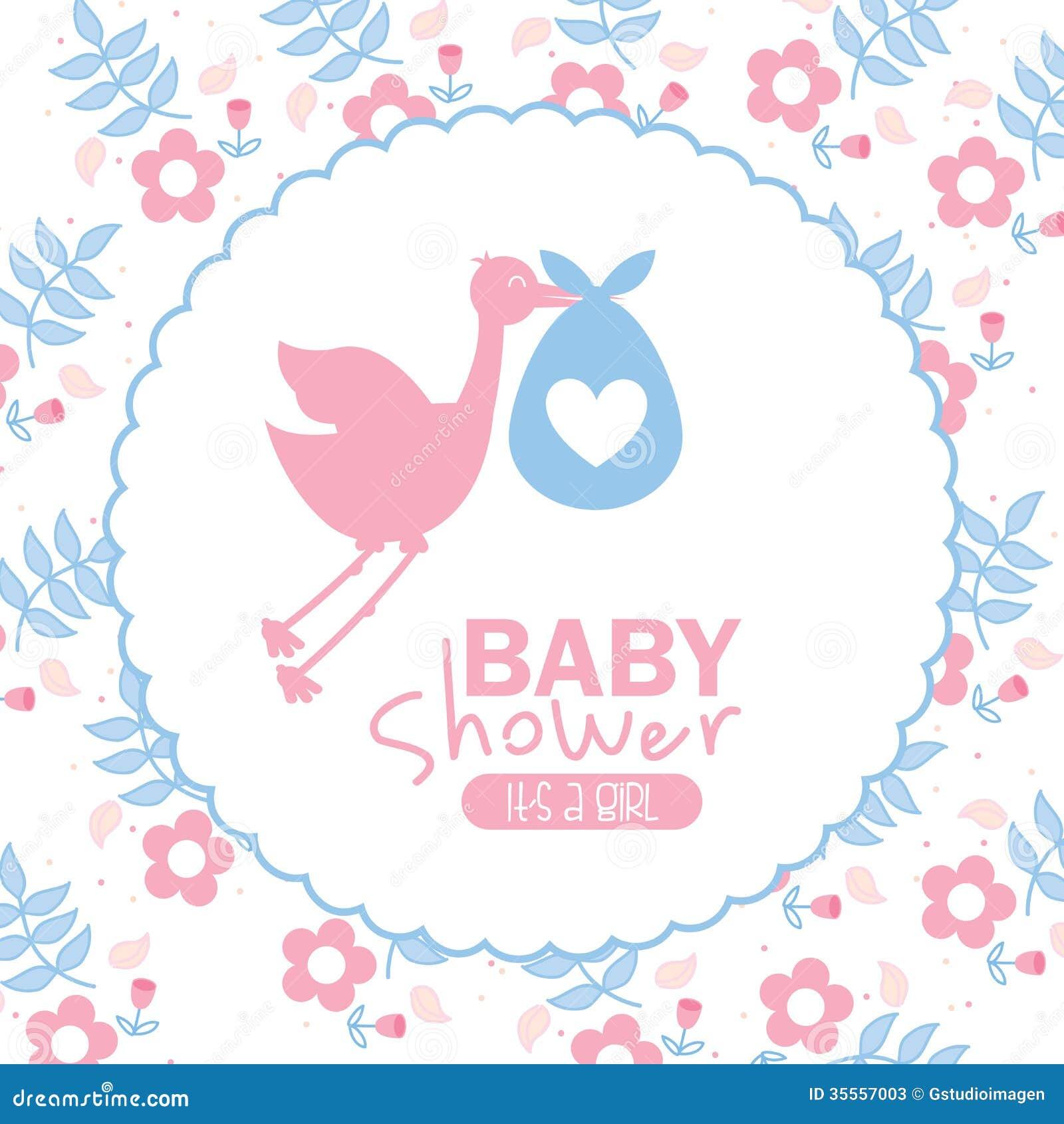 Baby shower design stock photos image 35557003