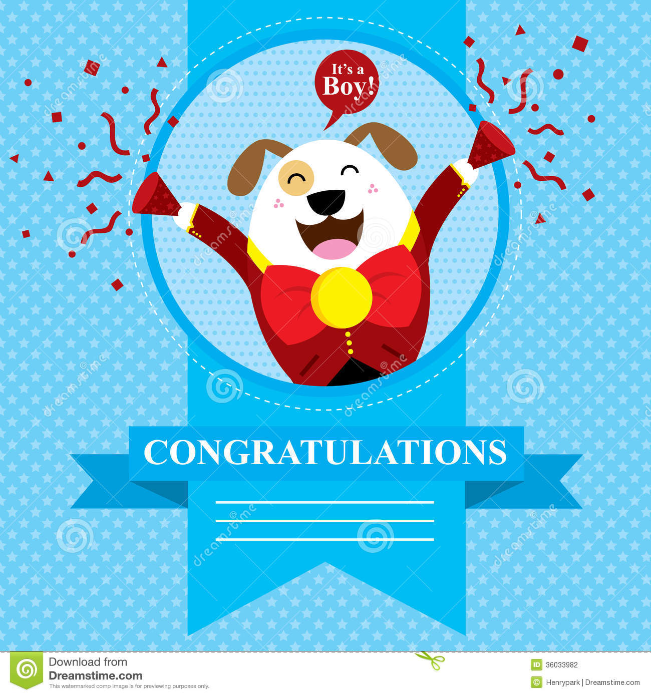 Baby shower dog stock vector illustration of congratulation baby shower dog kristyandbryce Image collections