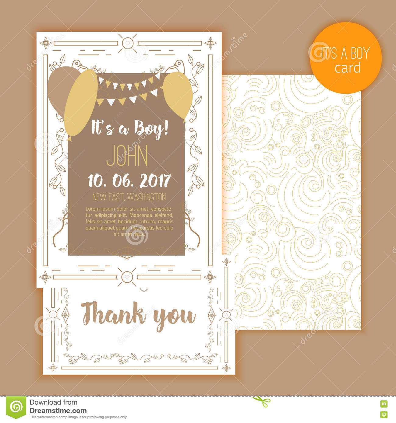 Baby Shower Elegant Card Ideal For Save The Date Mothers Day