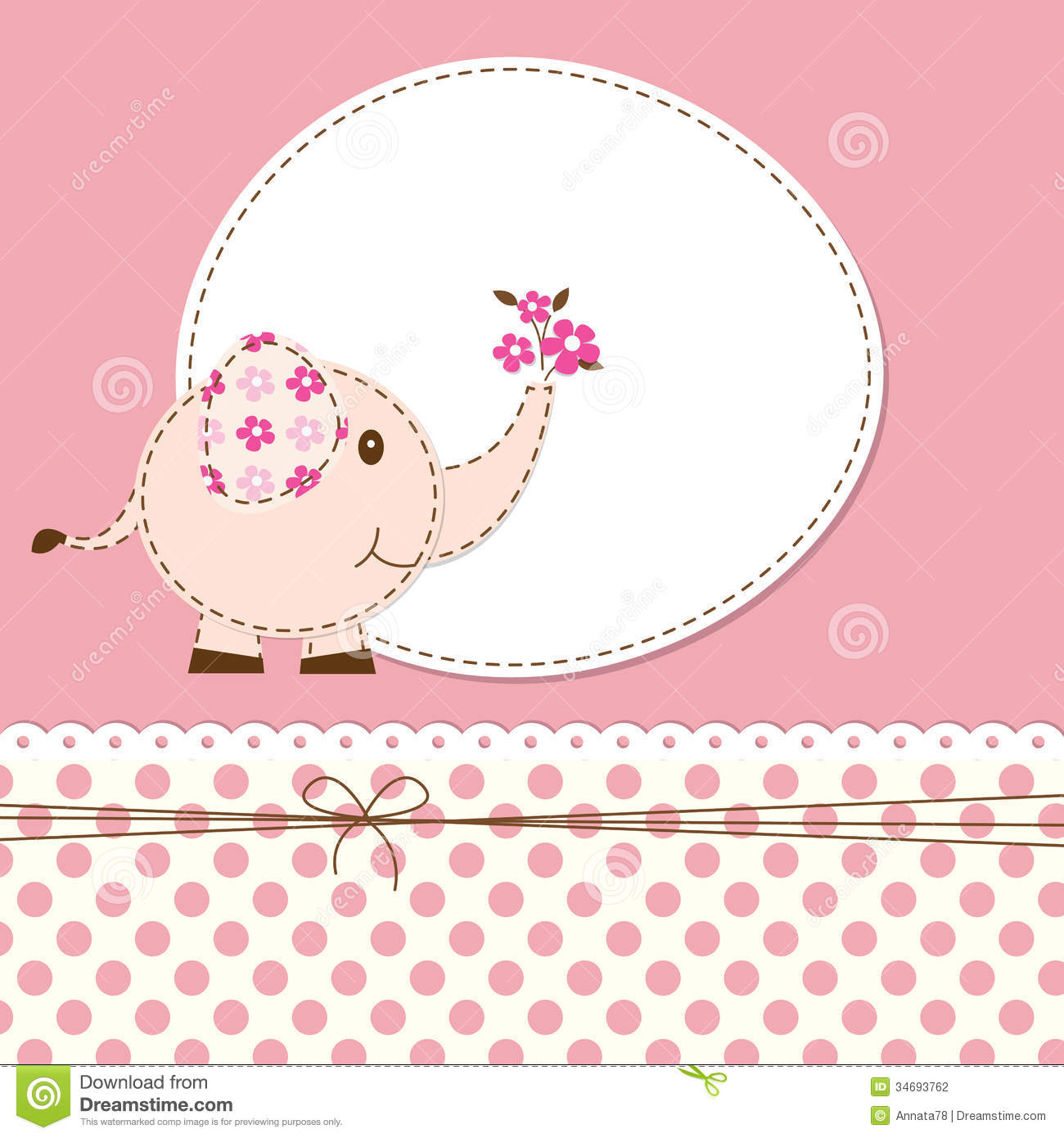 Baby Shower With Elephant Stock Vector Illustration Of Child 34693762