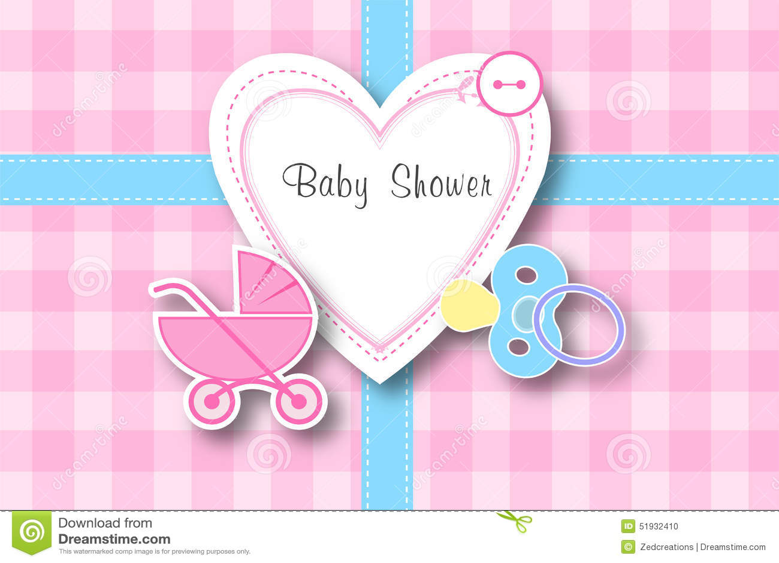 baby shower frame background stock illustration