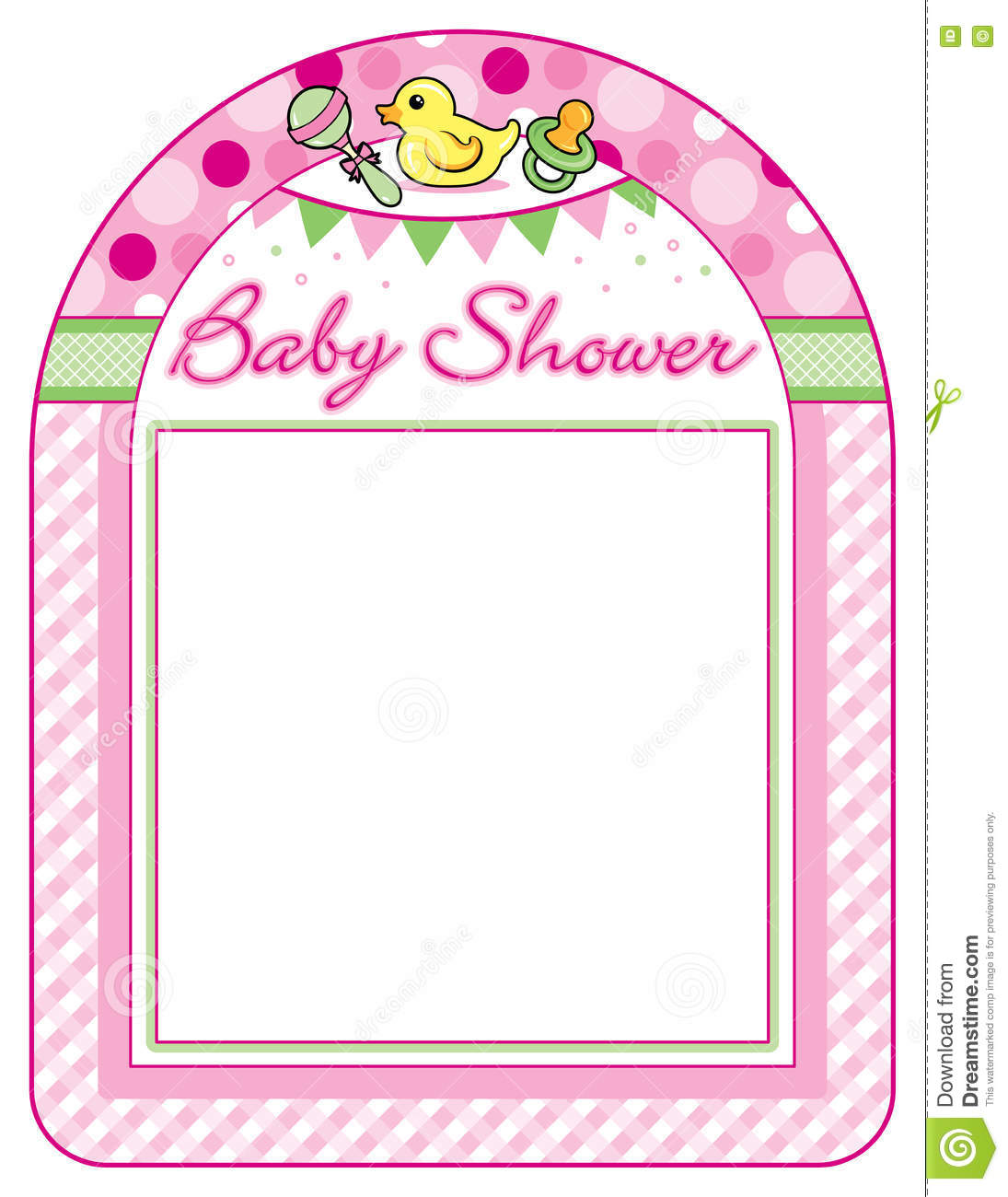 baby shower girl frame print sheet